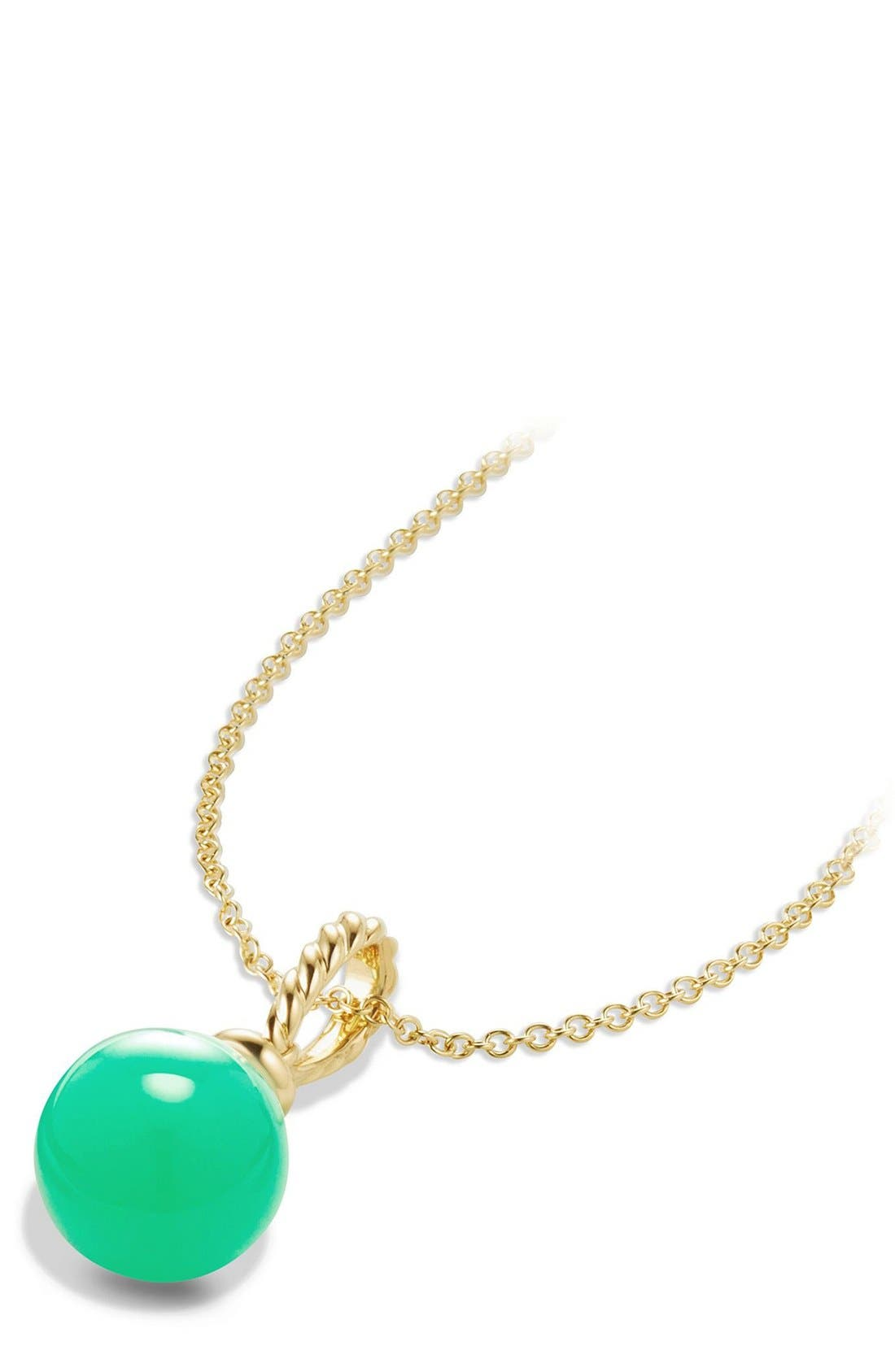'Solari' Pendant Necklace in 18K Gold,                             Alternate thumbnail 2, color,                             CHRYSOPRASE