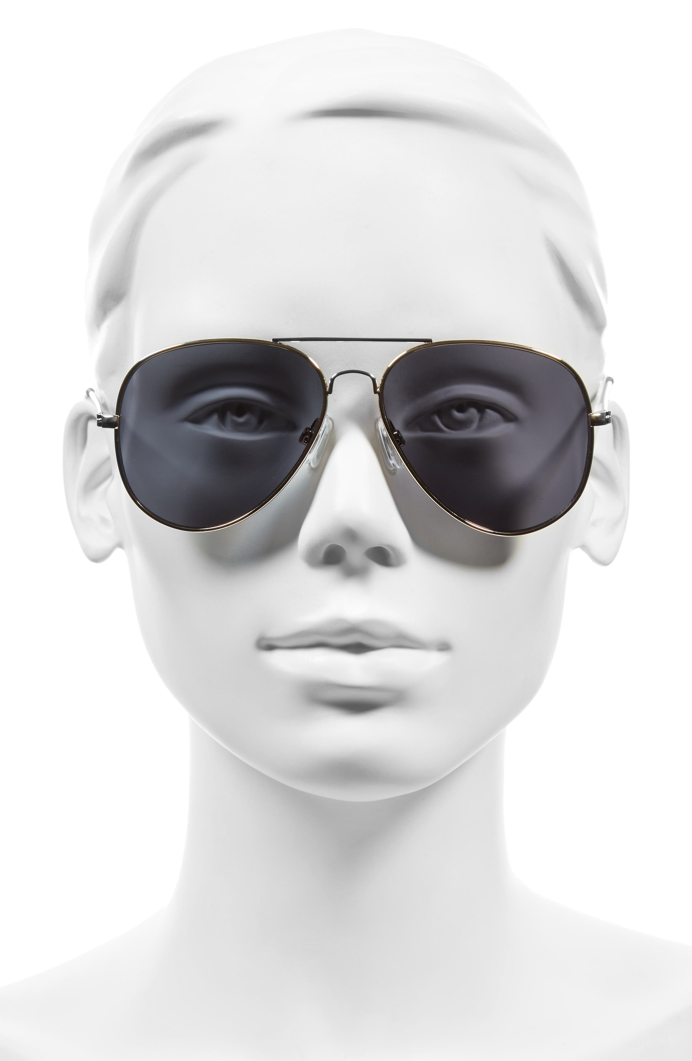 Mirrored Aviator 57mm Sunglasses,                             Alternate thumbnail 17, color,
