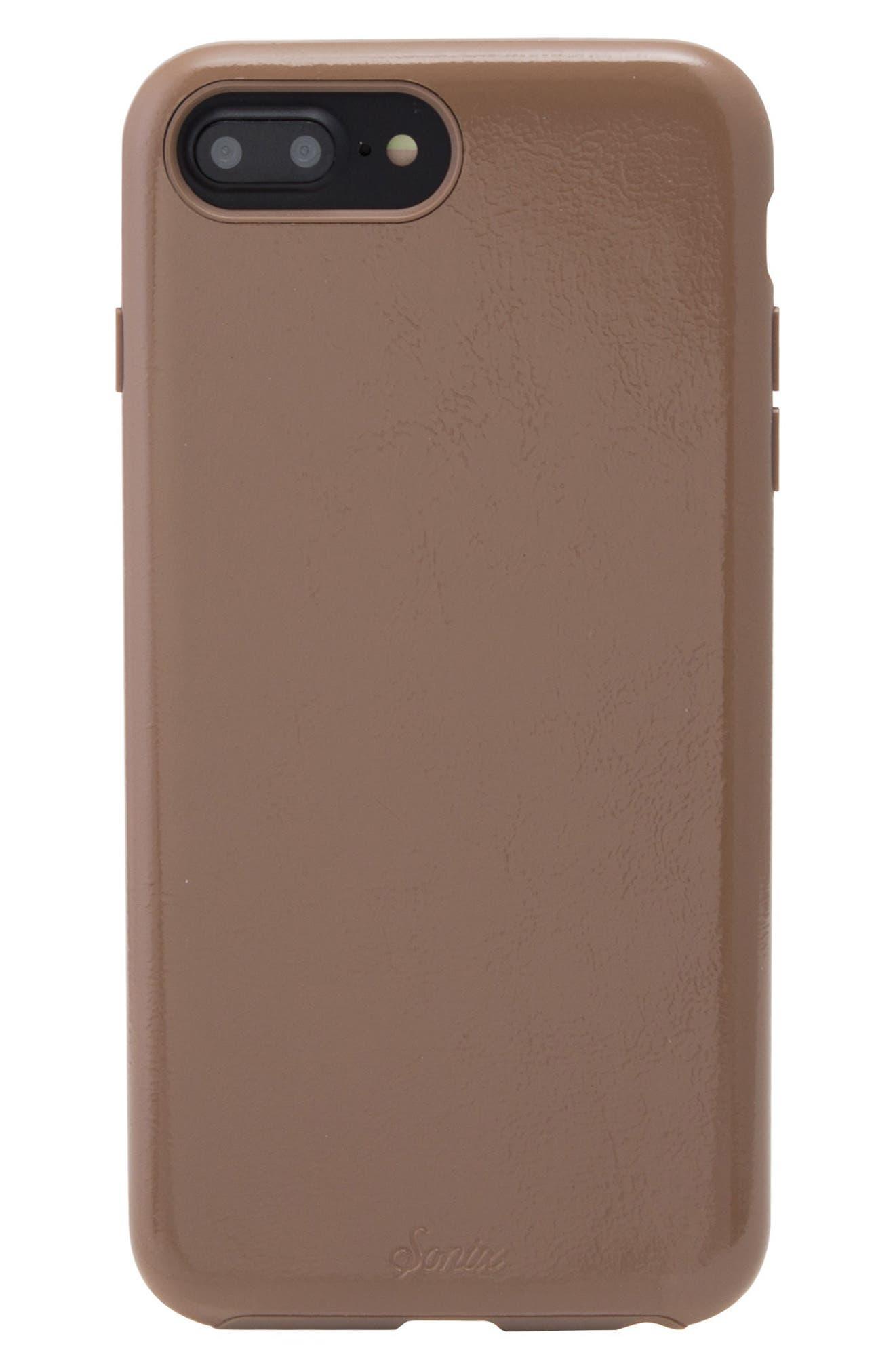 Cherry Faux Leather iPhone 6/6s/7/8 Plus Case,                             Main thumbnail 2, color,