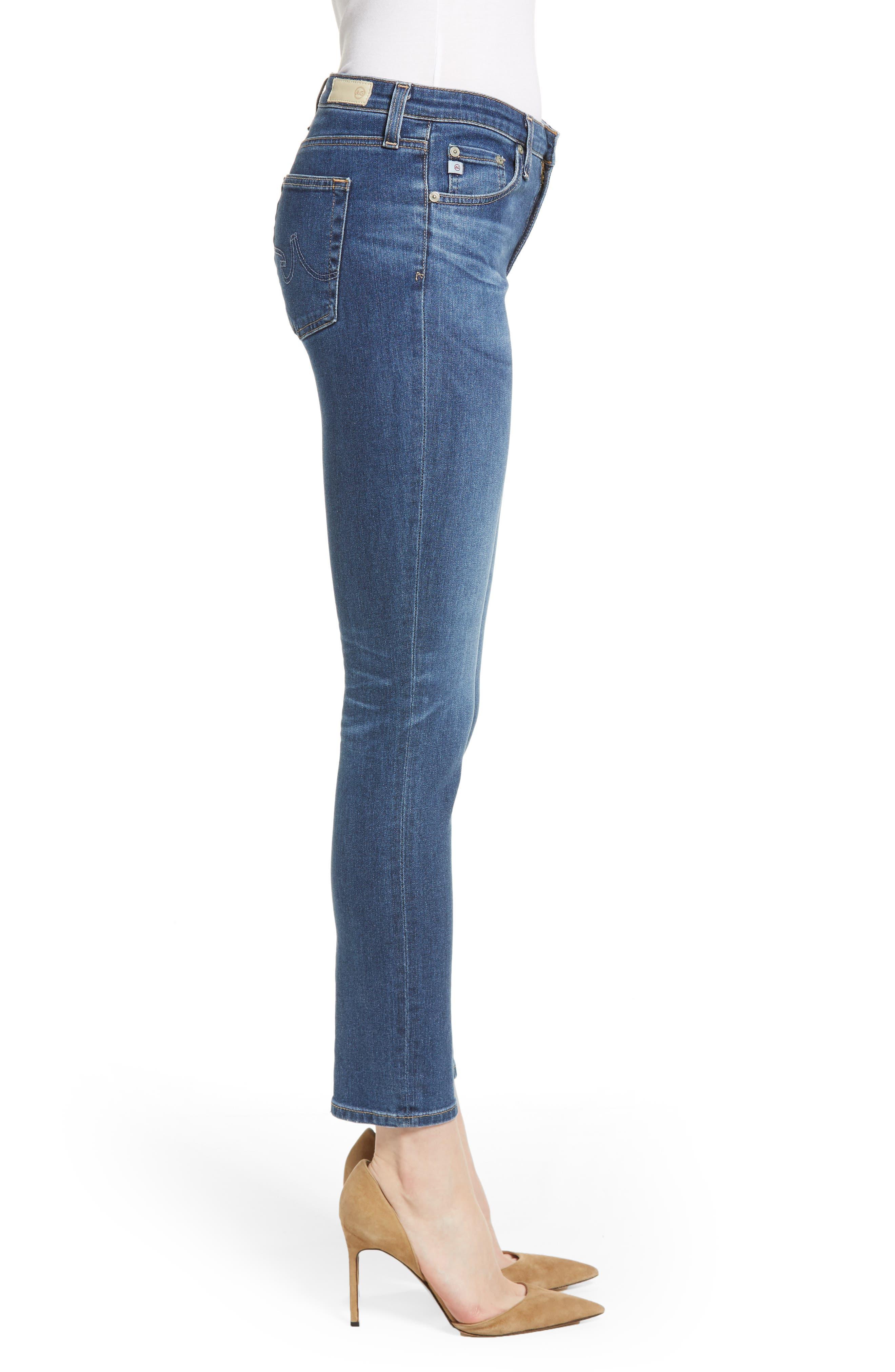 Prima Ankle Cigarette Jeans,                             Alternate thumbnail 3, color,                             8 YEARS BLUE PORTRAIT