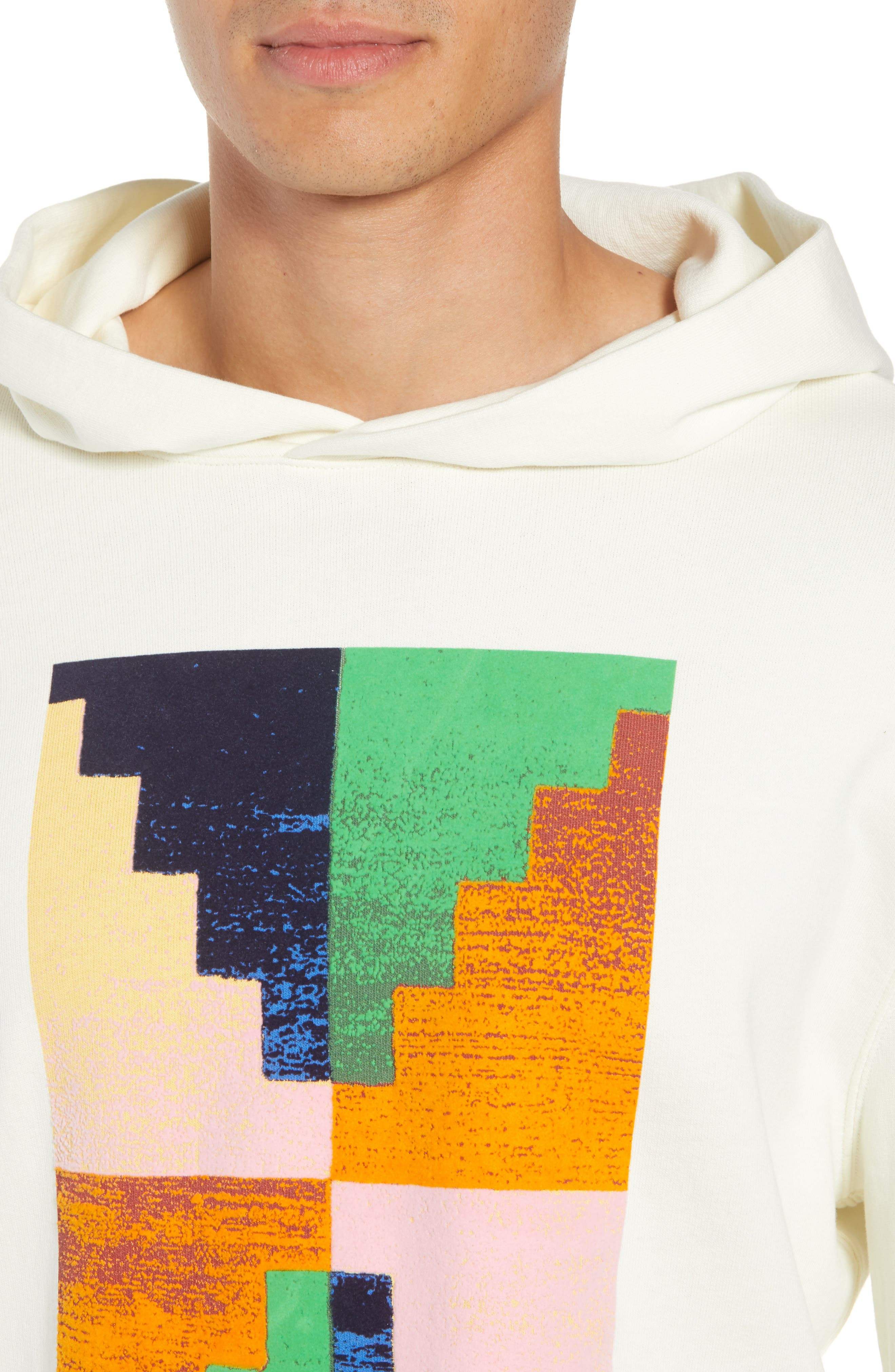 Pyramid Classic Fit Hoodie,                             Alternate thumbnail 4, color,                             OFF WHITE