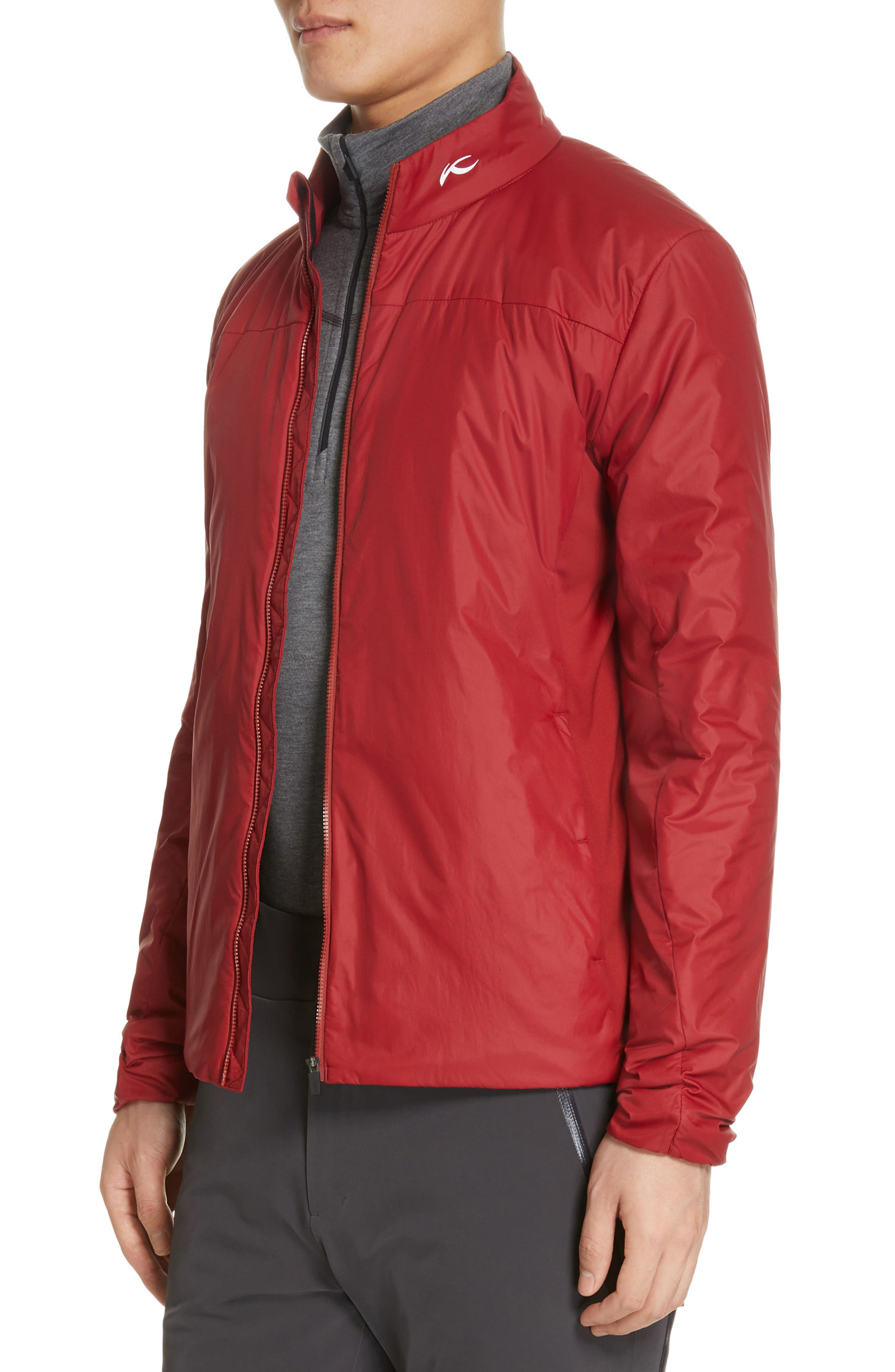 Radiation Waterproof Jacket,                             Alternate thumbnail 4, color,                             RED DAHLIA