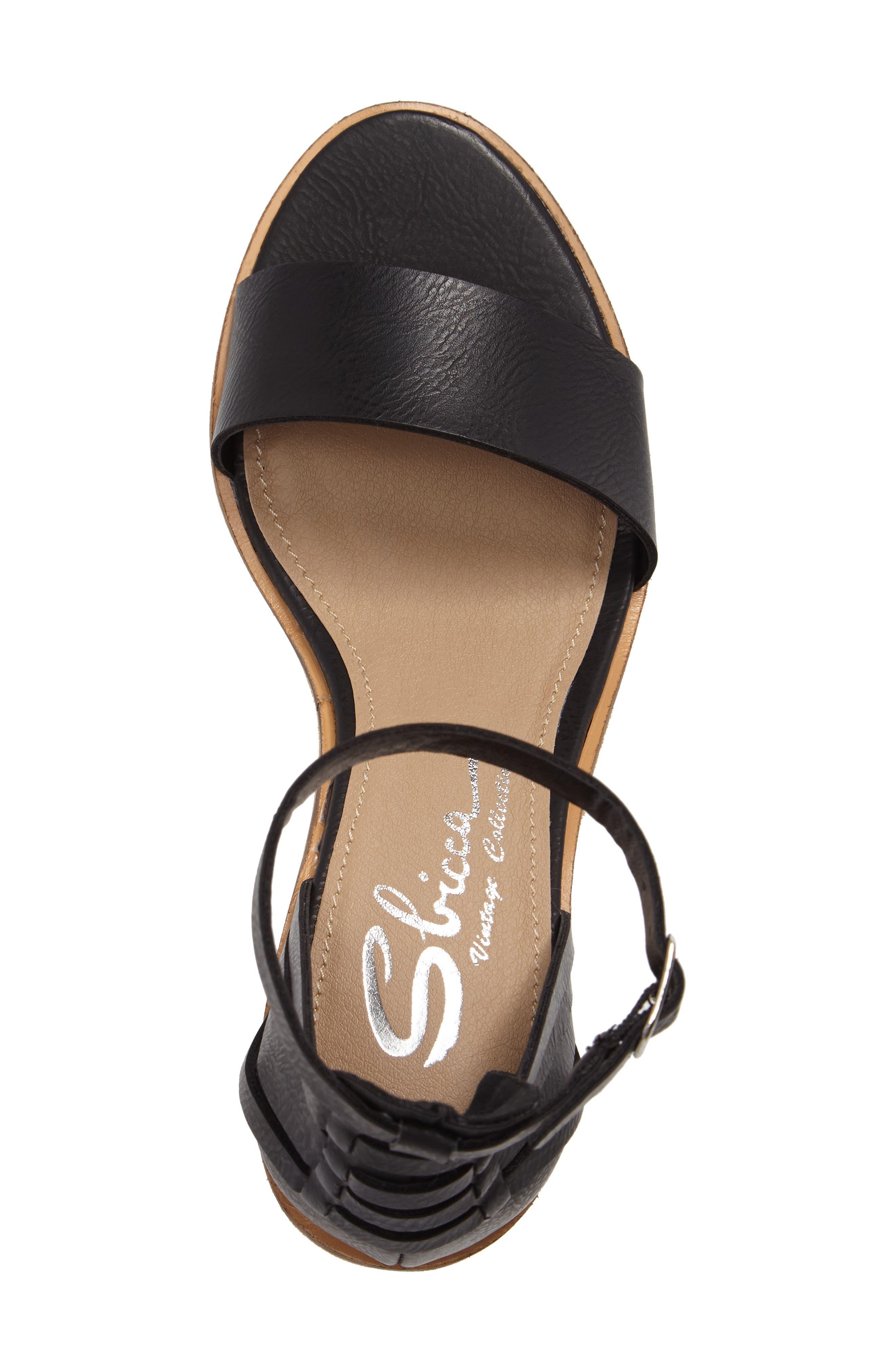 Fars Block Heel Sandal,                             Alternate thumbnail 5, color,                             001