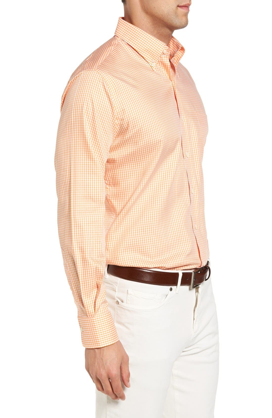 Crown Soft Gingham Regular Fit Sport Shirt,                             Alternate thumbnail 18, color,