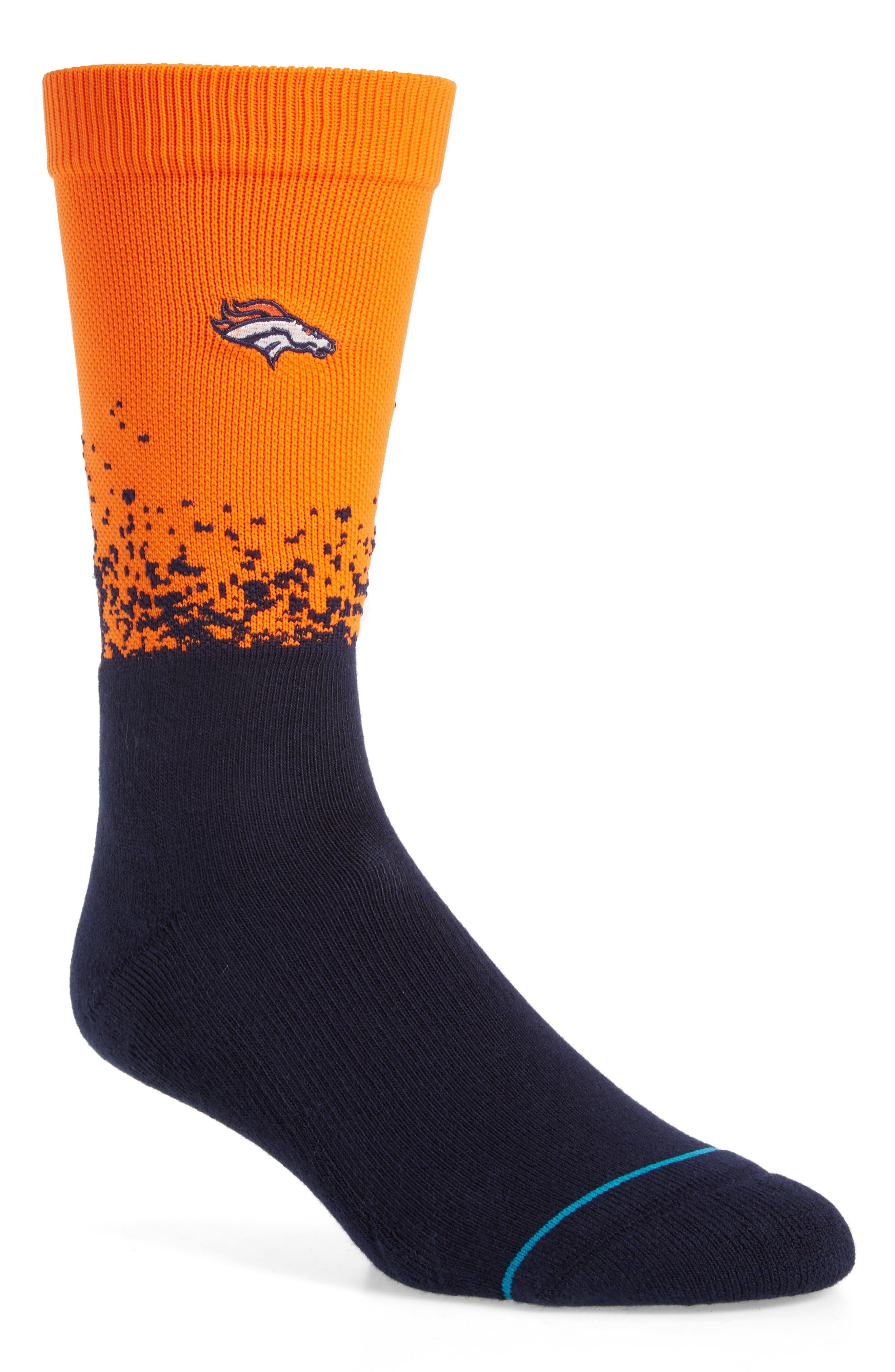 Denver Broncos - Fade Socks,                         Main,                         color, 410