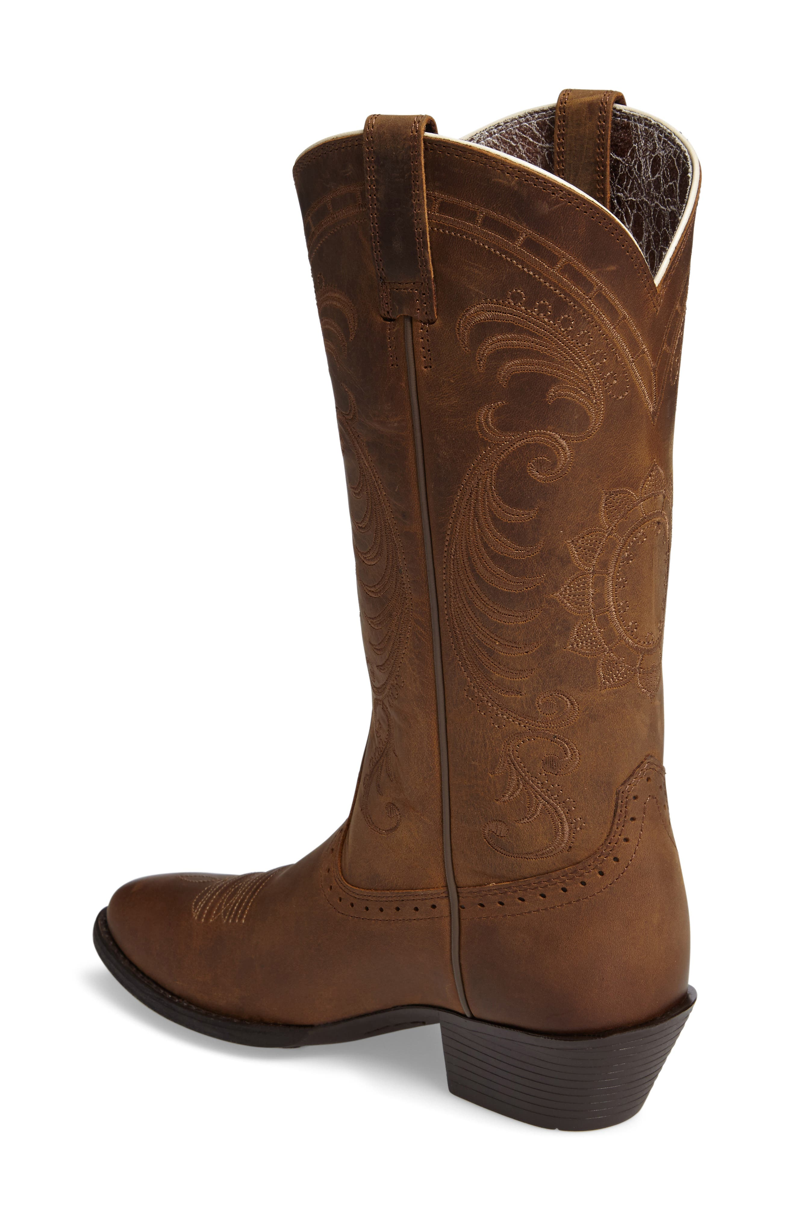 New West Collection - Magnolia Western Boot,                             Alternate thumbnail 2, color,                             DISTRESSED BROWN LEATHER