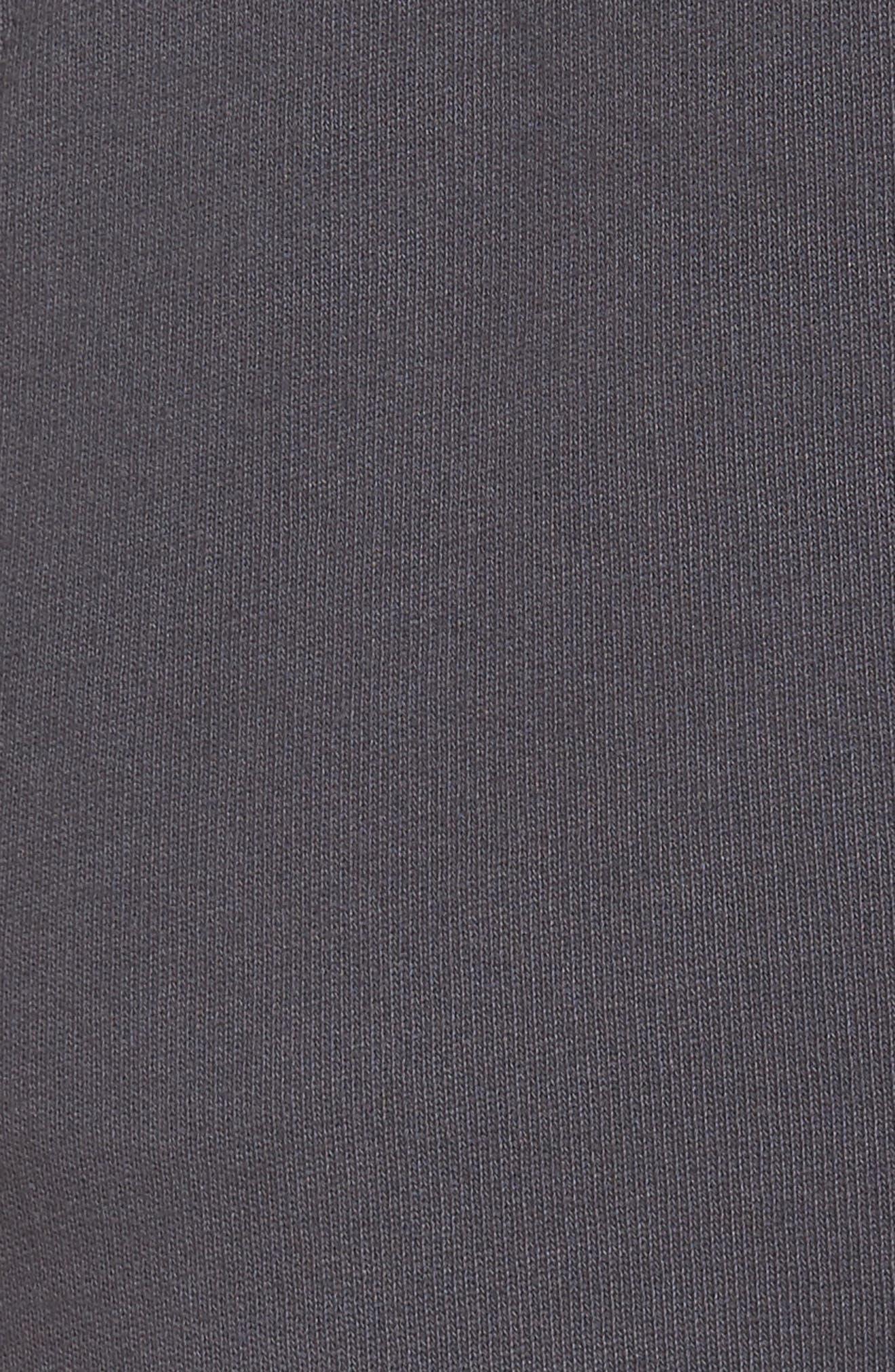 Raw Hem Crop Sweatpants,                             Alternate thumbnail 5, color,                             010