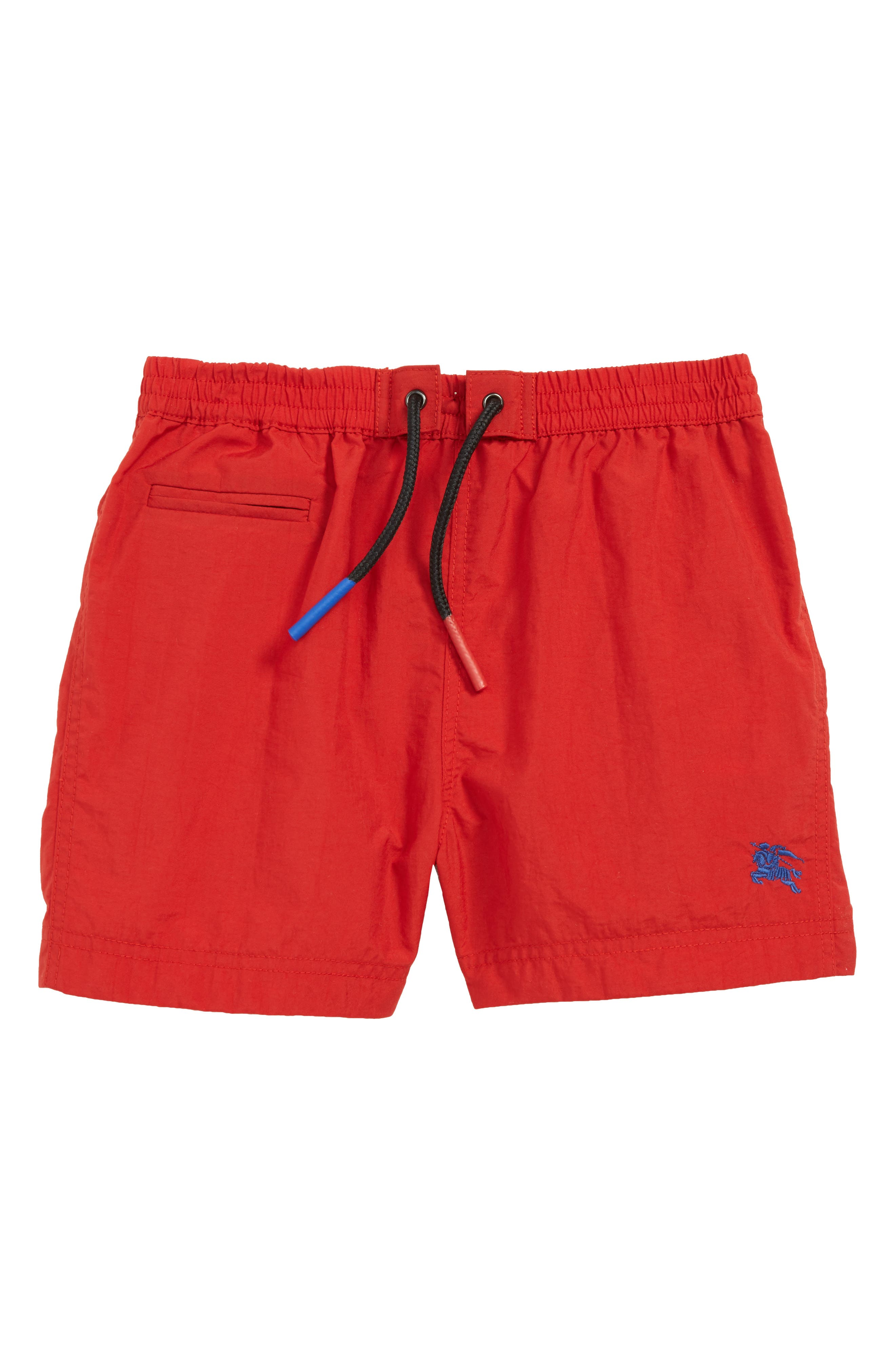 Galvin Swim Trunks,                         Main,                         color, MILITARY RED