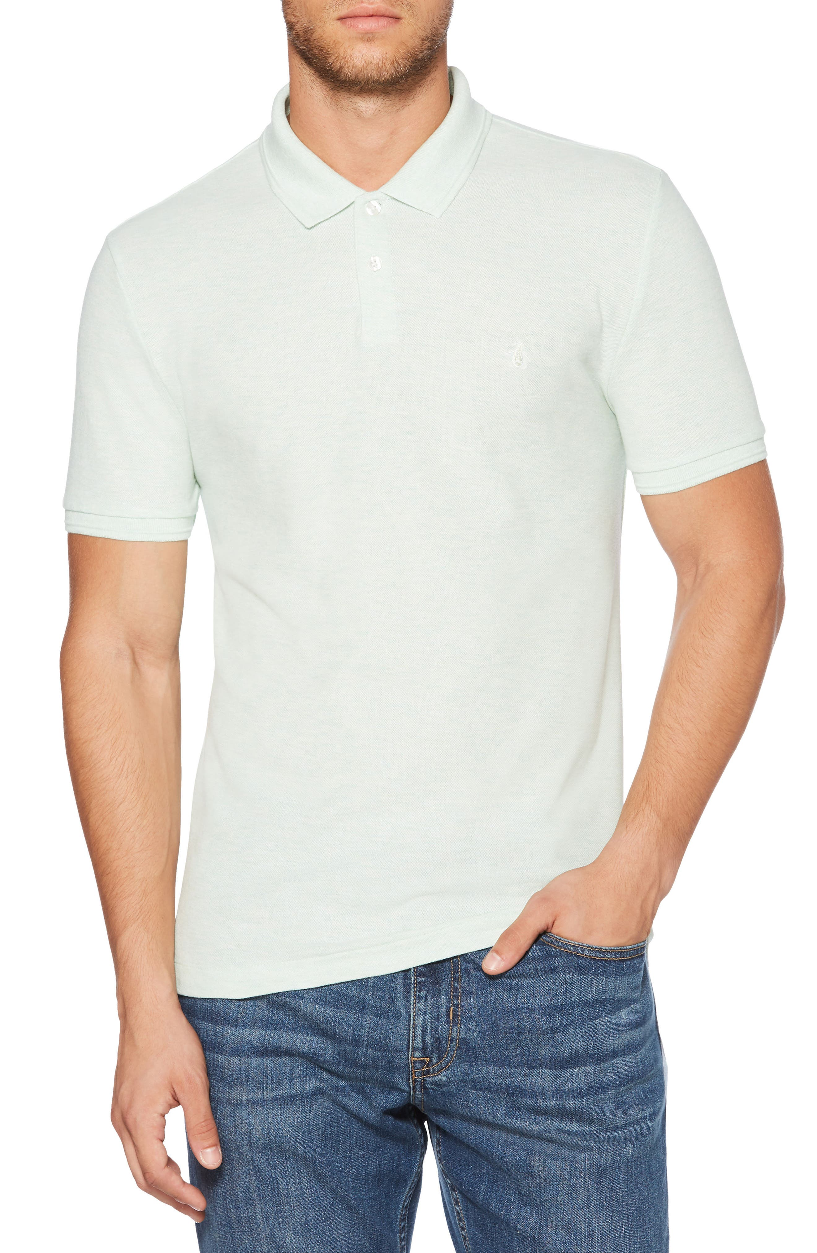 ORIGINAL PENGUIN,                             Daddy-O Piqué Polo,                             Main thumbnail 1, color,                             334