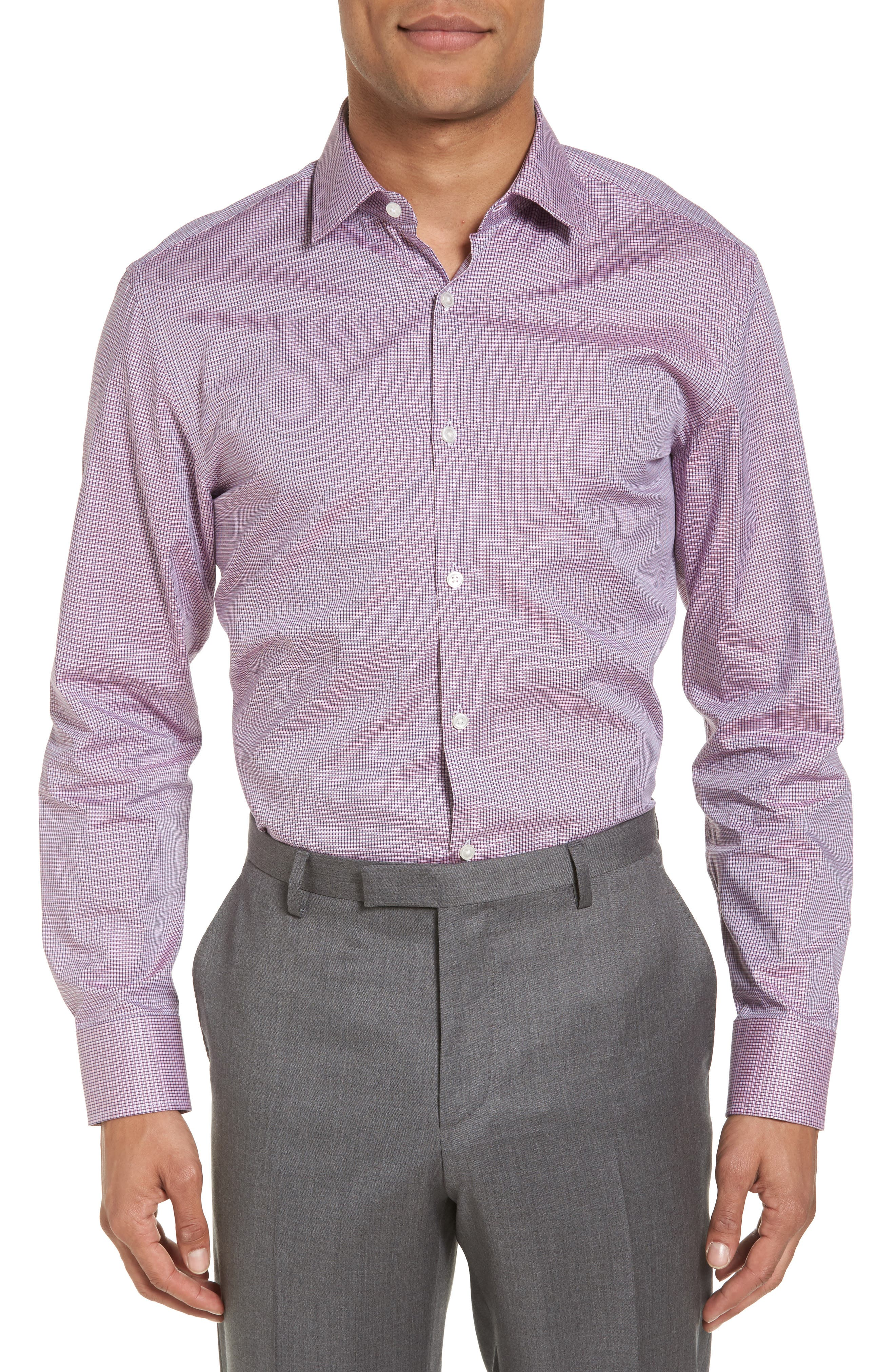 Sharp Fit Check Dress Shirt,                         Main,                         color, 611