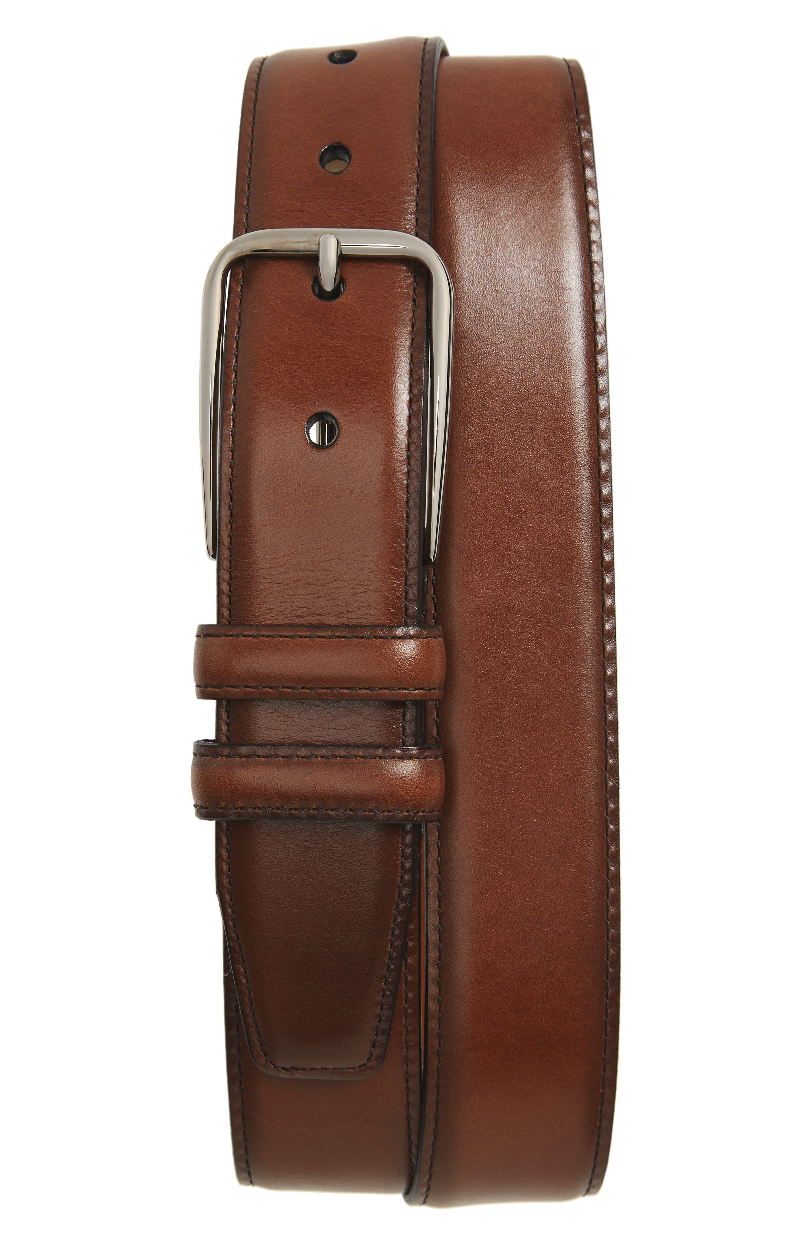 Parker Leather Belt,                             Main thumbnail 4, color,