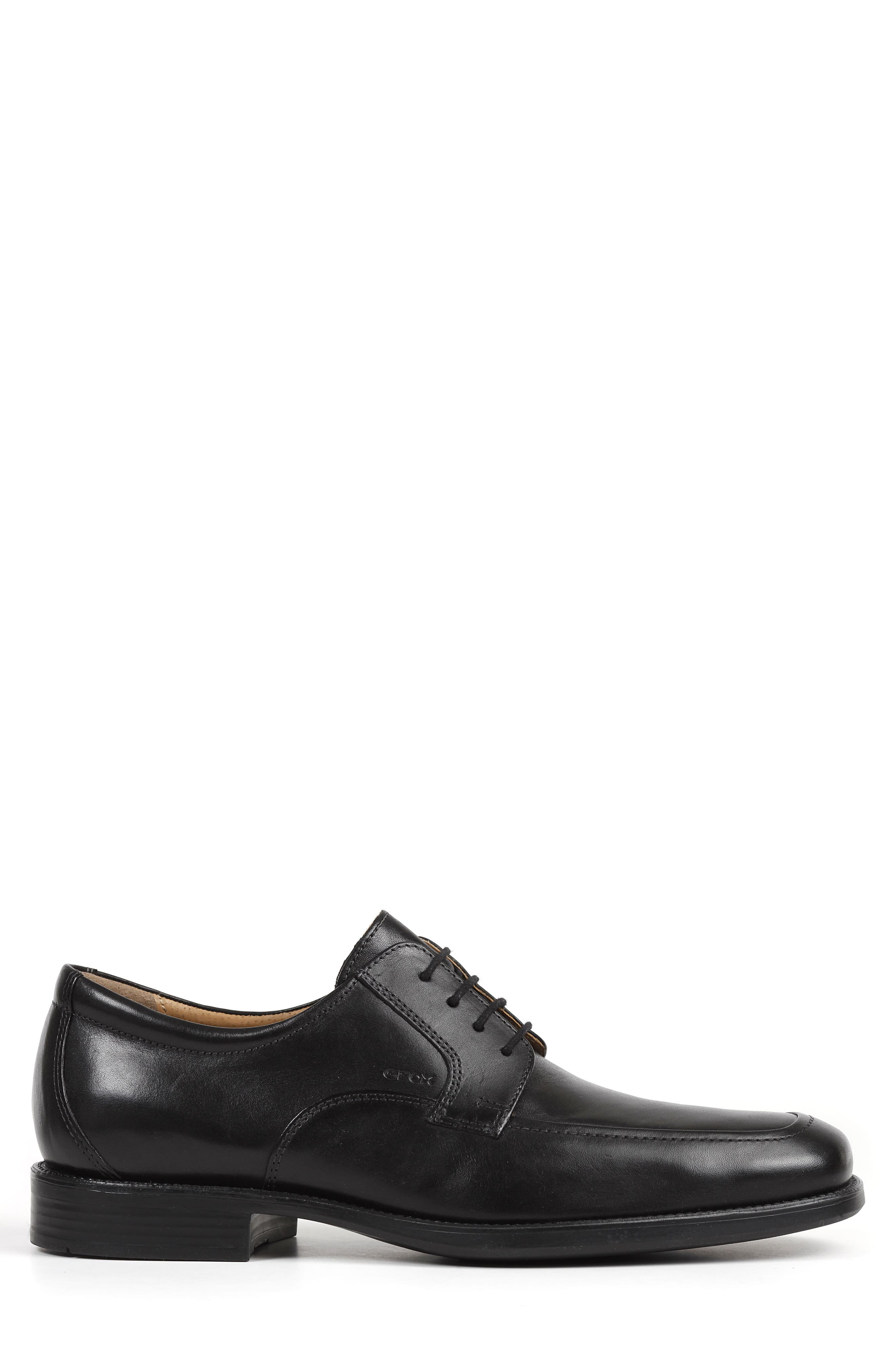 Federico 14 Plain Toe Derby,                             Alternate thumbnail 3, color,                             BLACK LEATHER
