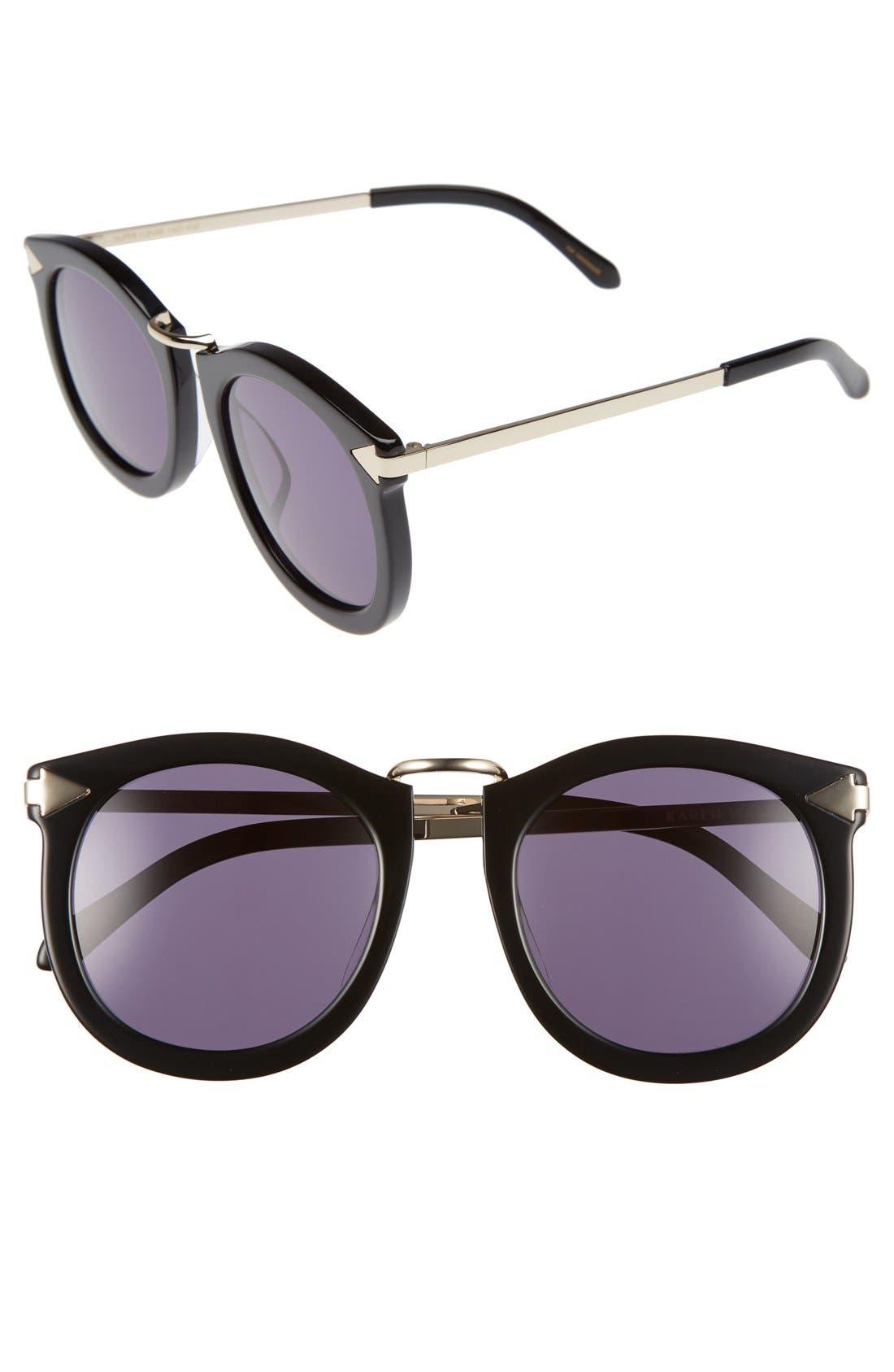 Alternative Fit Super Lunar - Arrowed by Karen 50mm Sunglasses,                             Main thumbnail 1, color,