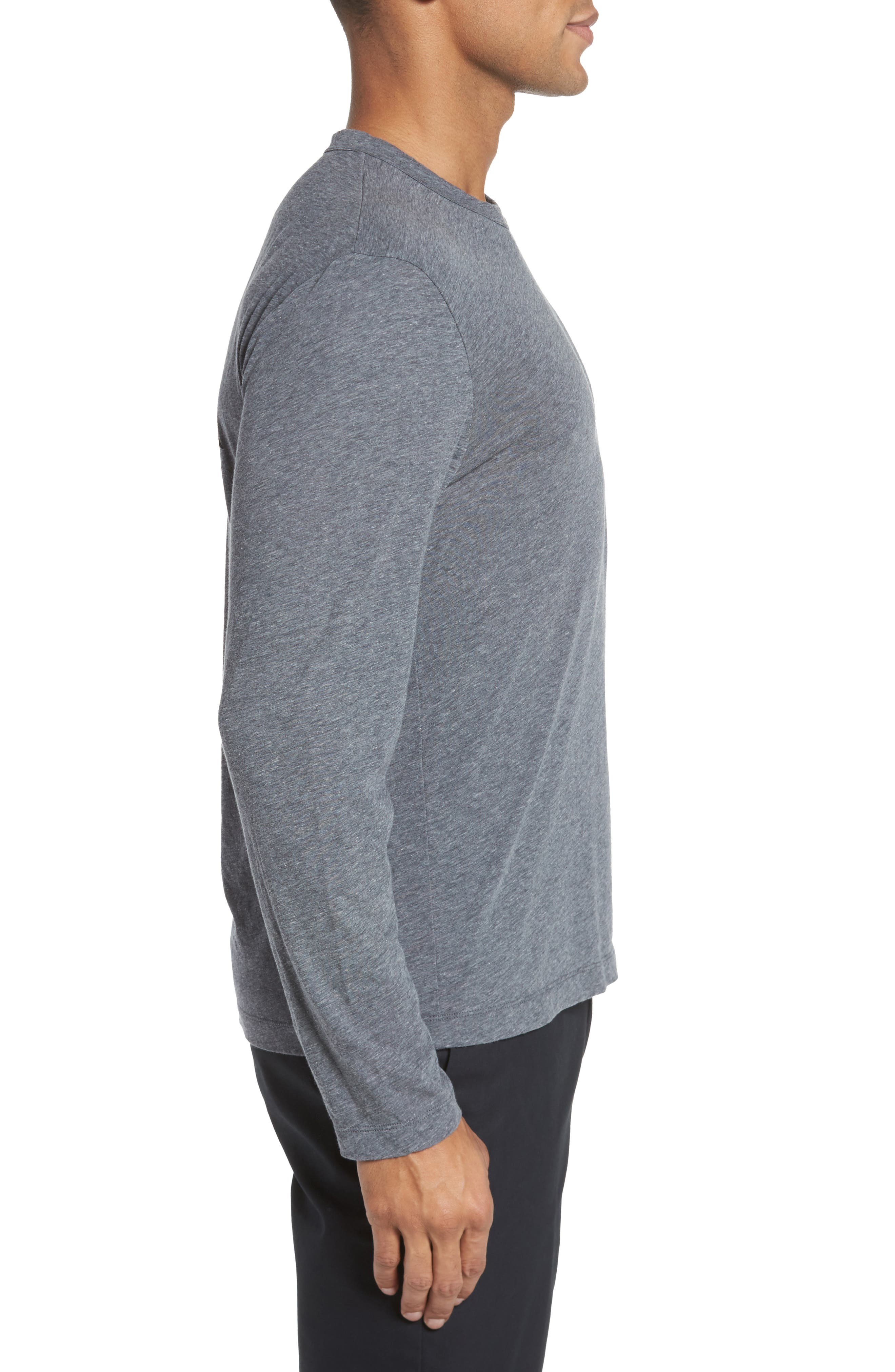 Mélange Long Sleeve Graphic T-Shirt,                             Alternate thumbnail 3, color,                             007