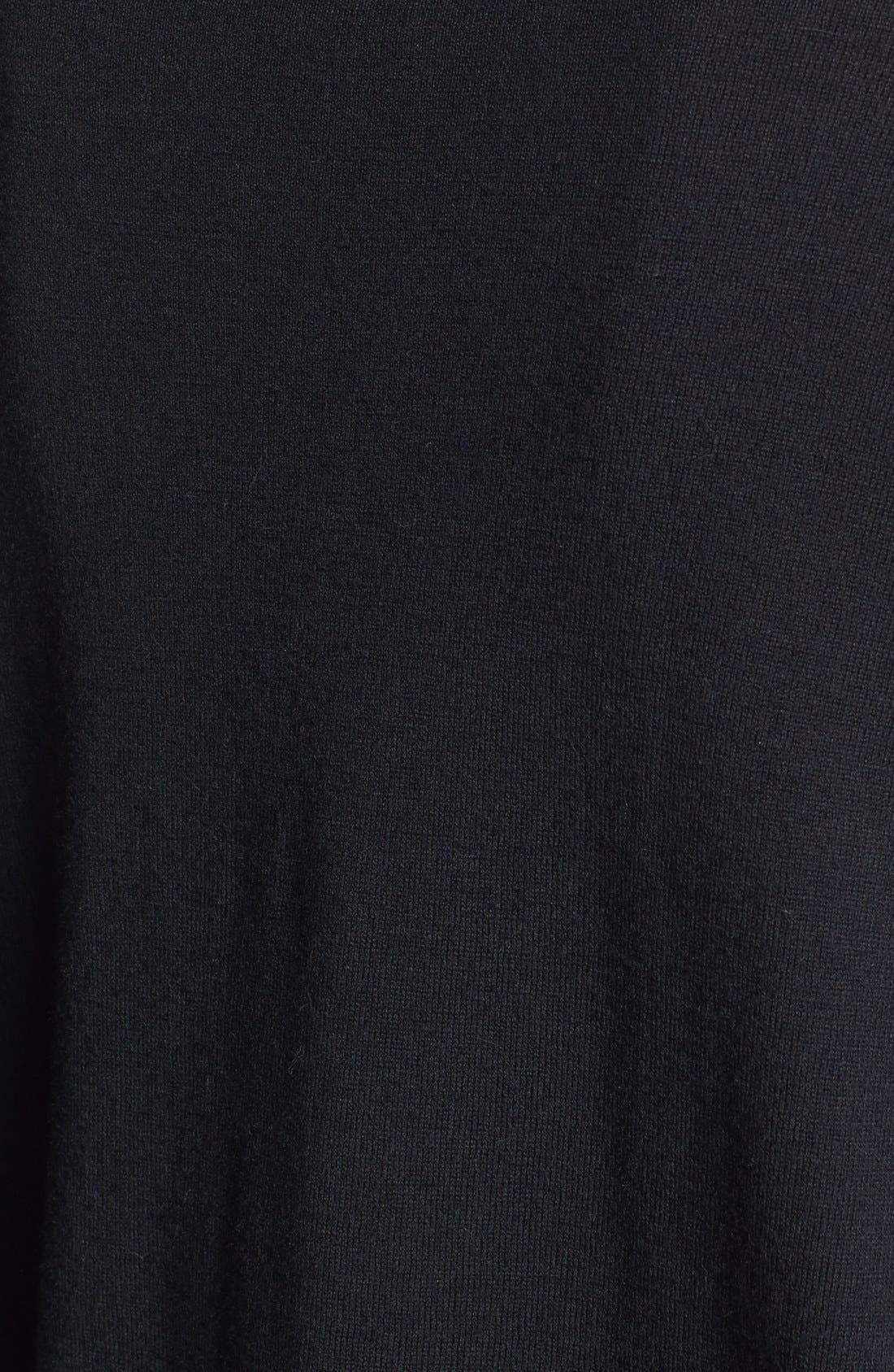 'Malena B.' Mixed Media Sweater,                             Alternate thumbnail 3, color,                             001
