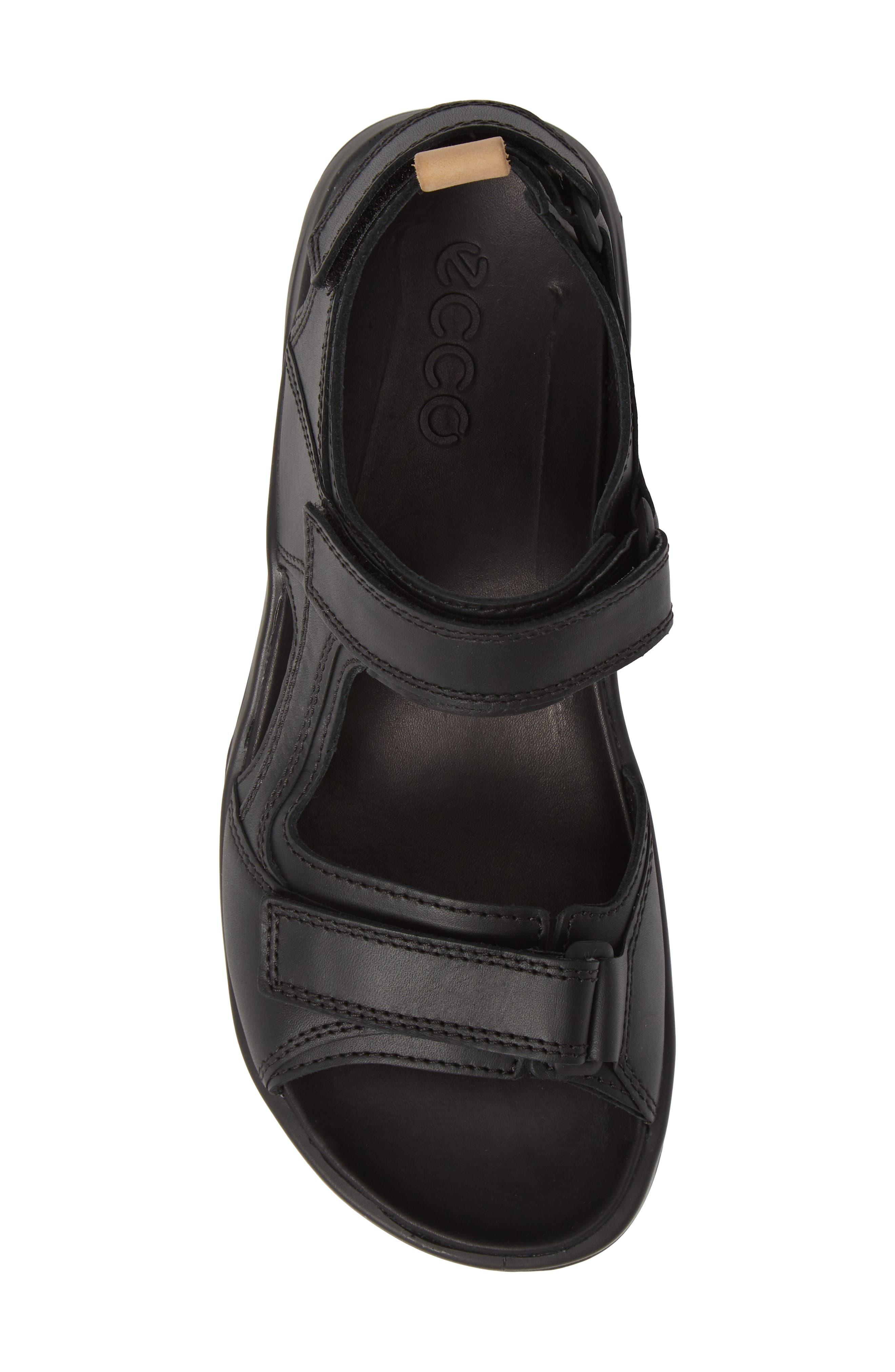 Premium Offroad Sandal,                             Alternate thumbnail 5, color,                             BLACK LEATHER