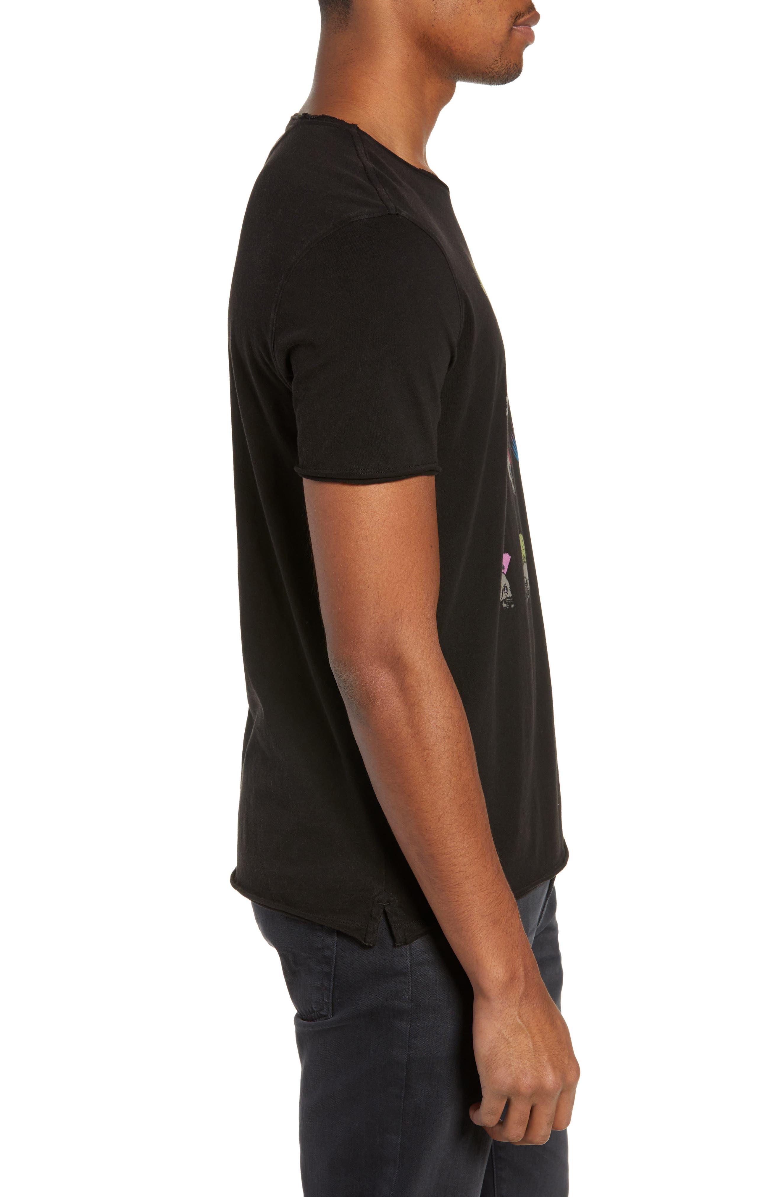 Skullhawks Graphic T-Shirt,                             Alternate thumbnail 3, color,                             BLACK