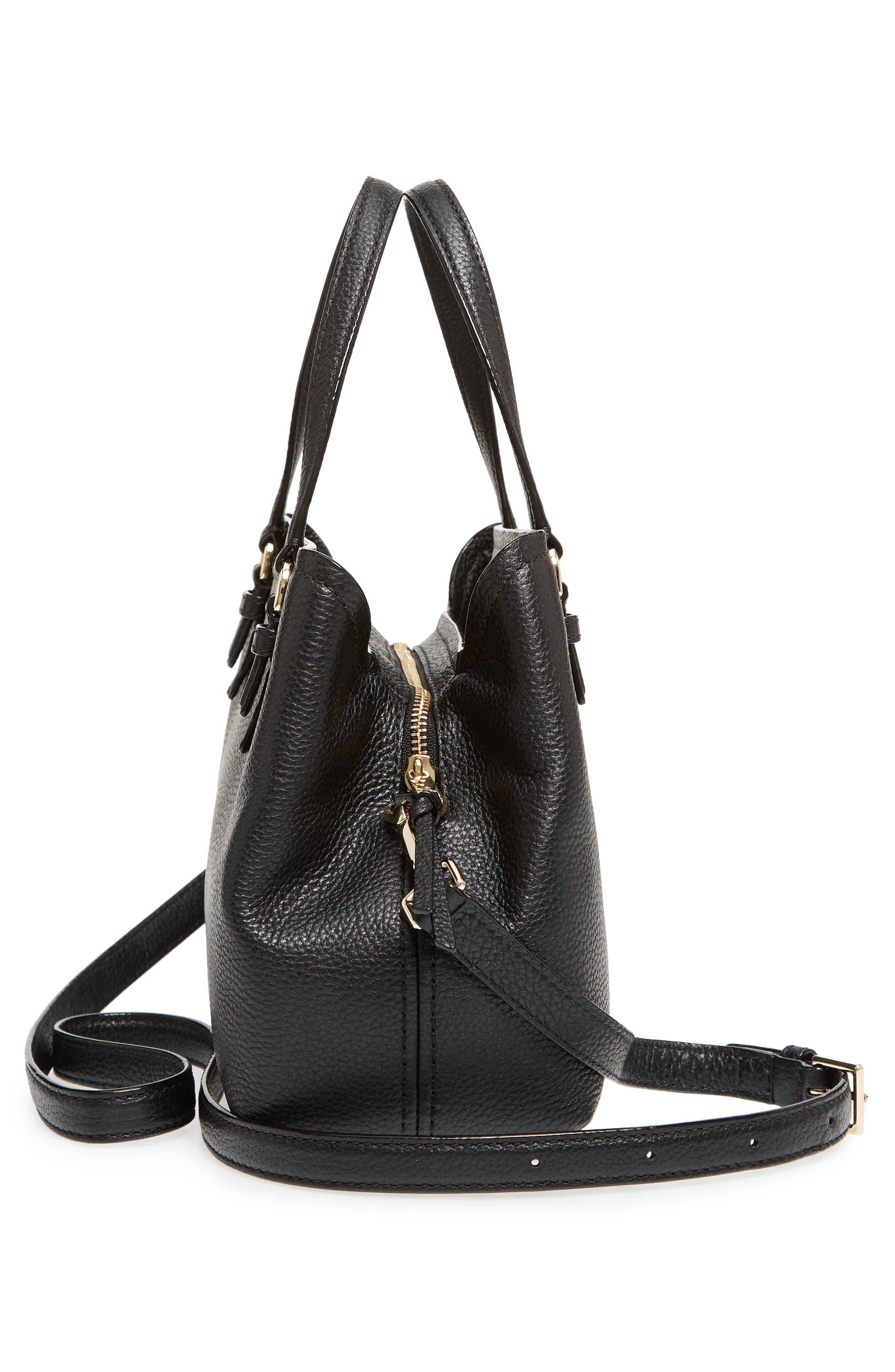 jackson street – small octavia leather satchel,                             Alternate thumbnail 5, color,                             001