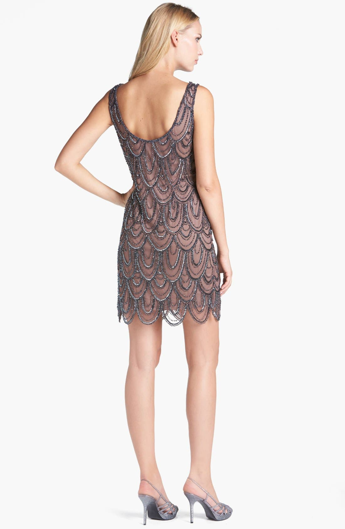 Embellished Mesh Sheath Dress,                             Alternate thumbnail 49, color,
