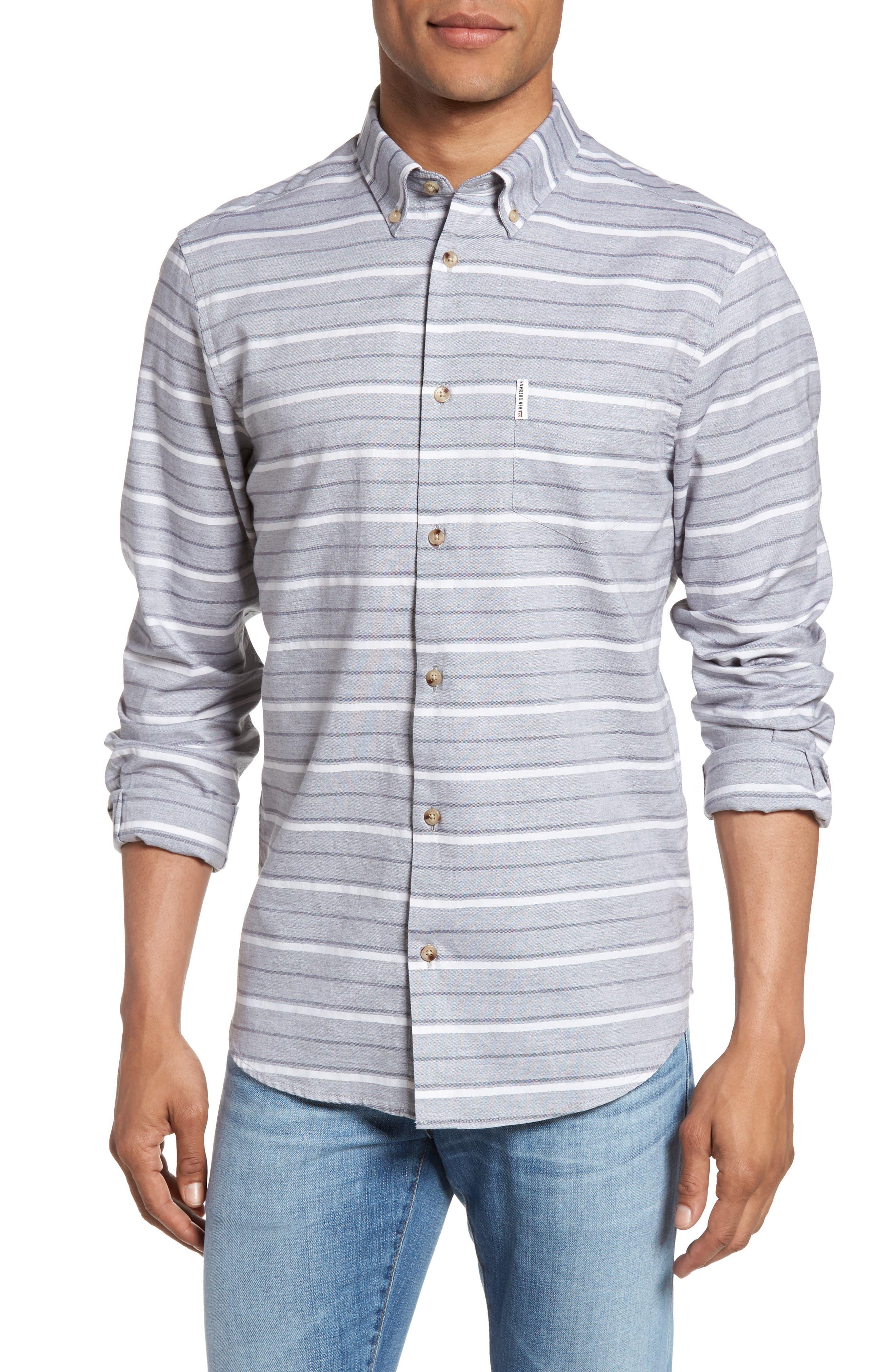 Tipping Horizontal Stripe Shirt,                             Main thumbnail 1, color,                             020