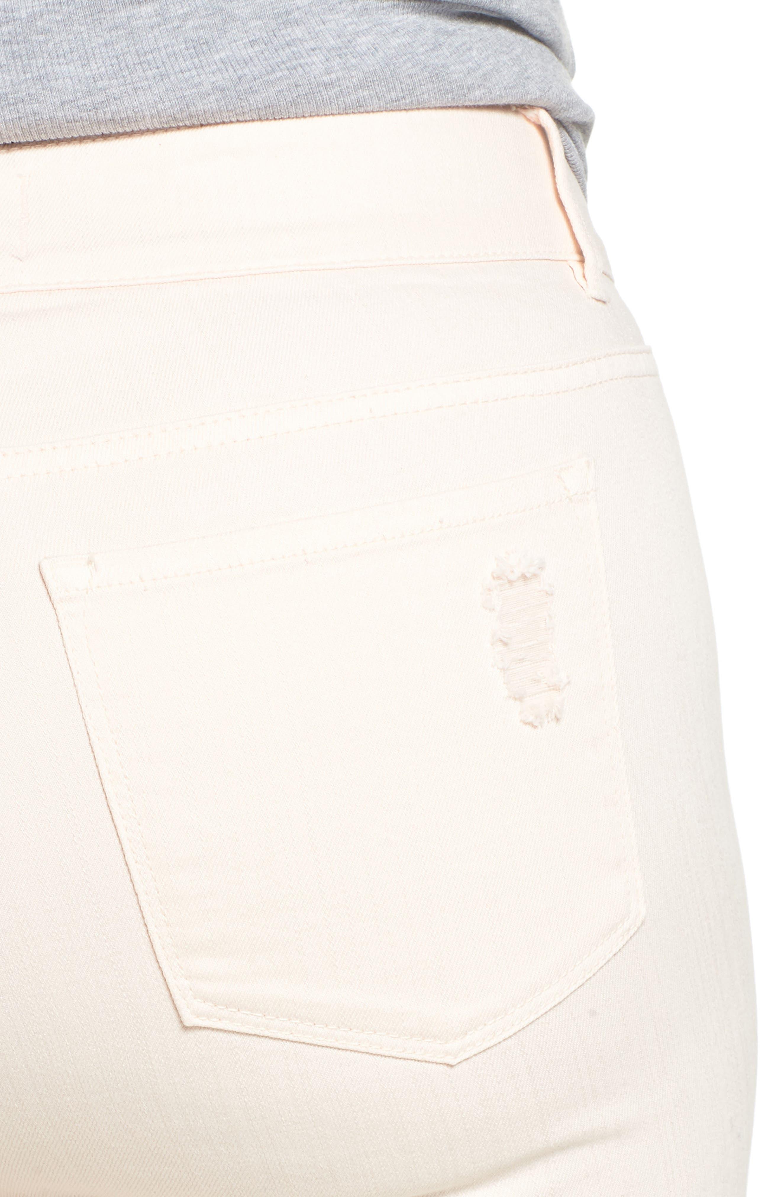 RACHEL RACHEL ROY,                             Icon Distressed Skinny Jeans,                             Alternate thumbnail 4, color,                             680