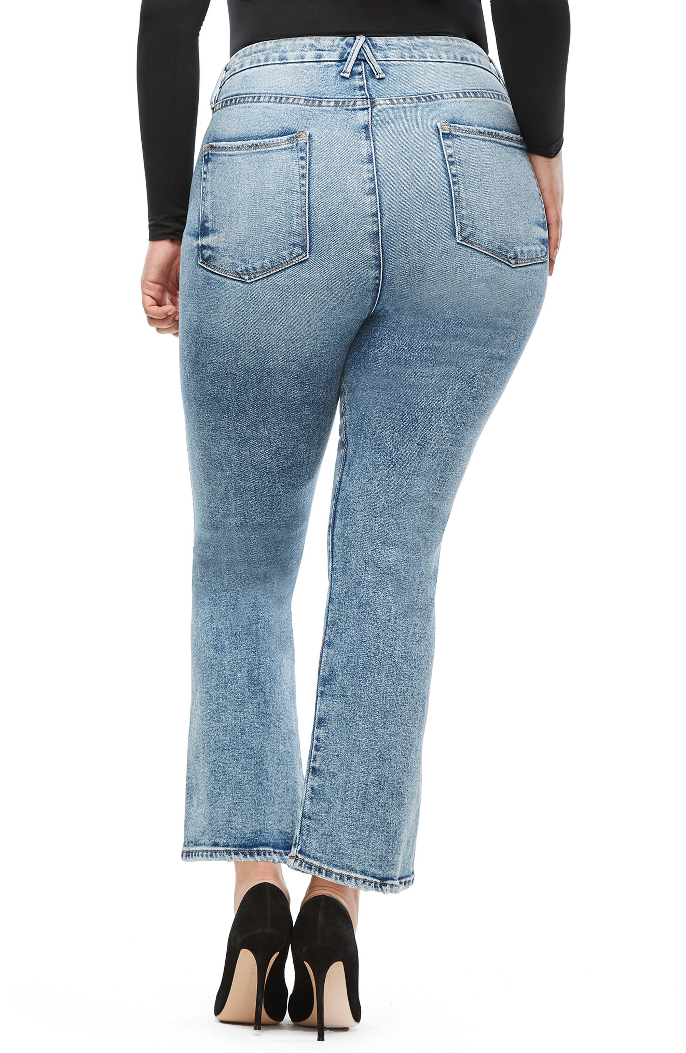 GOOD AMERICAN,                             Good Curve High Waist Ankle Straight Leg Jeans,                             Alternate thumbnail 7, color,                             BLUE 189