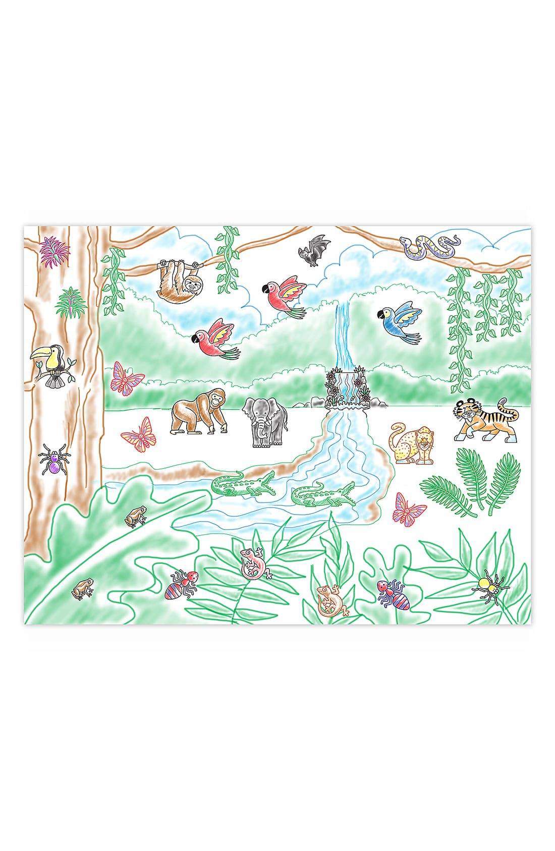 MELISSA & DOUG,                             'Stamp-A-Scene - Rain Forest' Stamp Set,                             Alternate thumbnail 3, color,                             BROWN