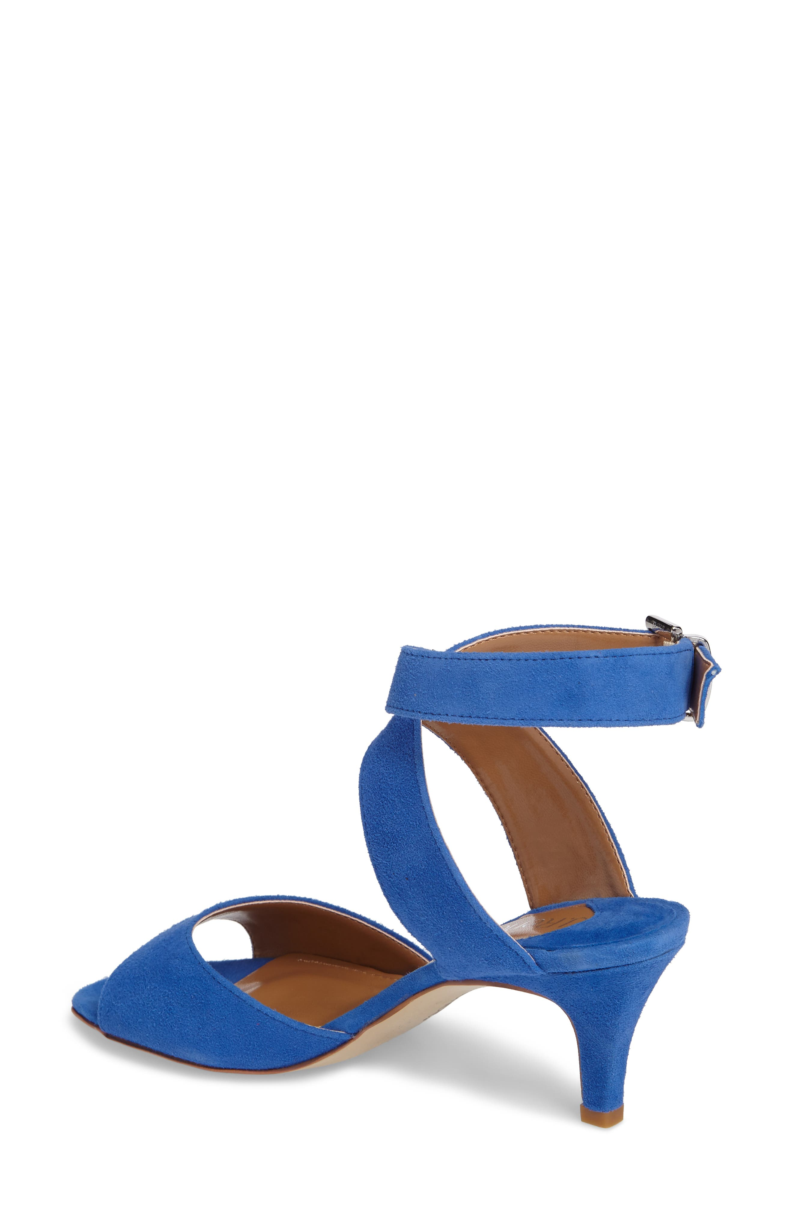'Soncino' Ankle Strap Sandal,                             Alternate thumbnail 2, color,                             BLUE FABRIC