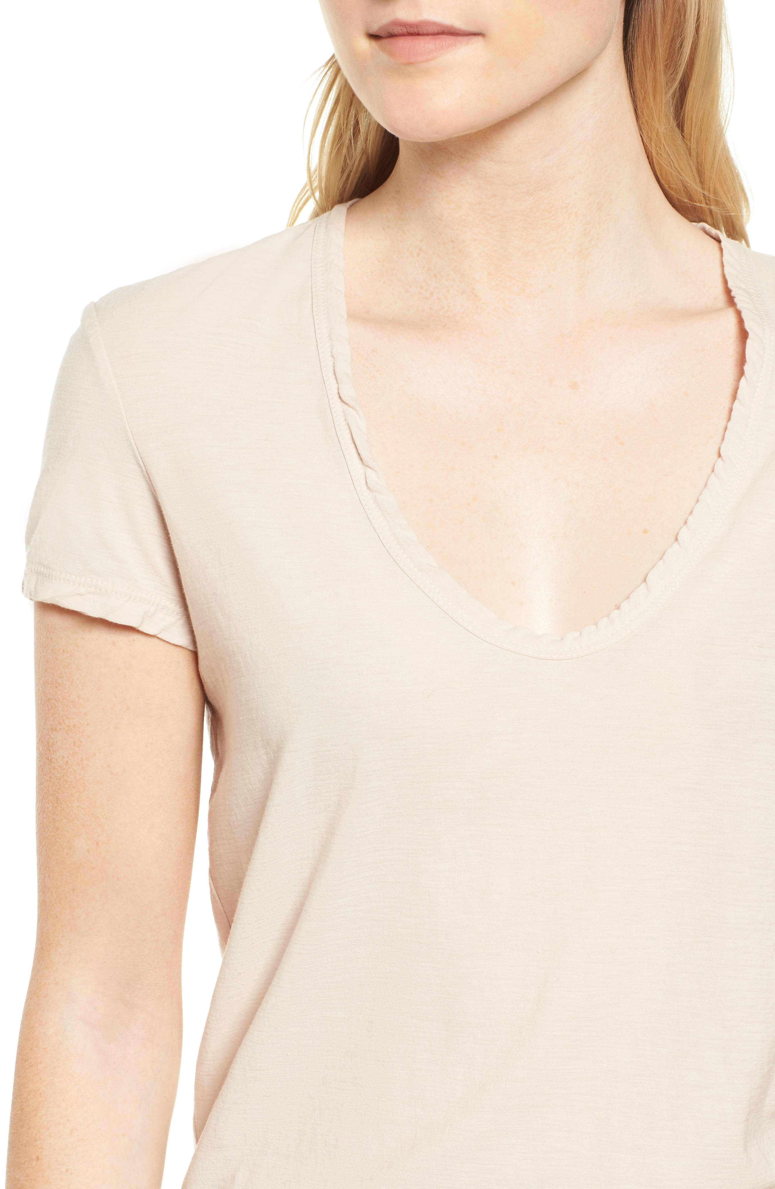 Deep V-Neck Tee,                             Alternate thumbnail 10, color,