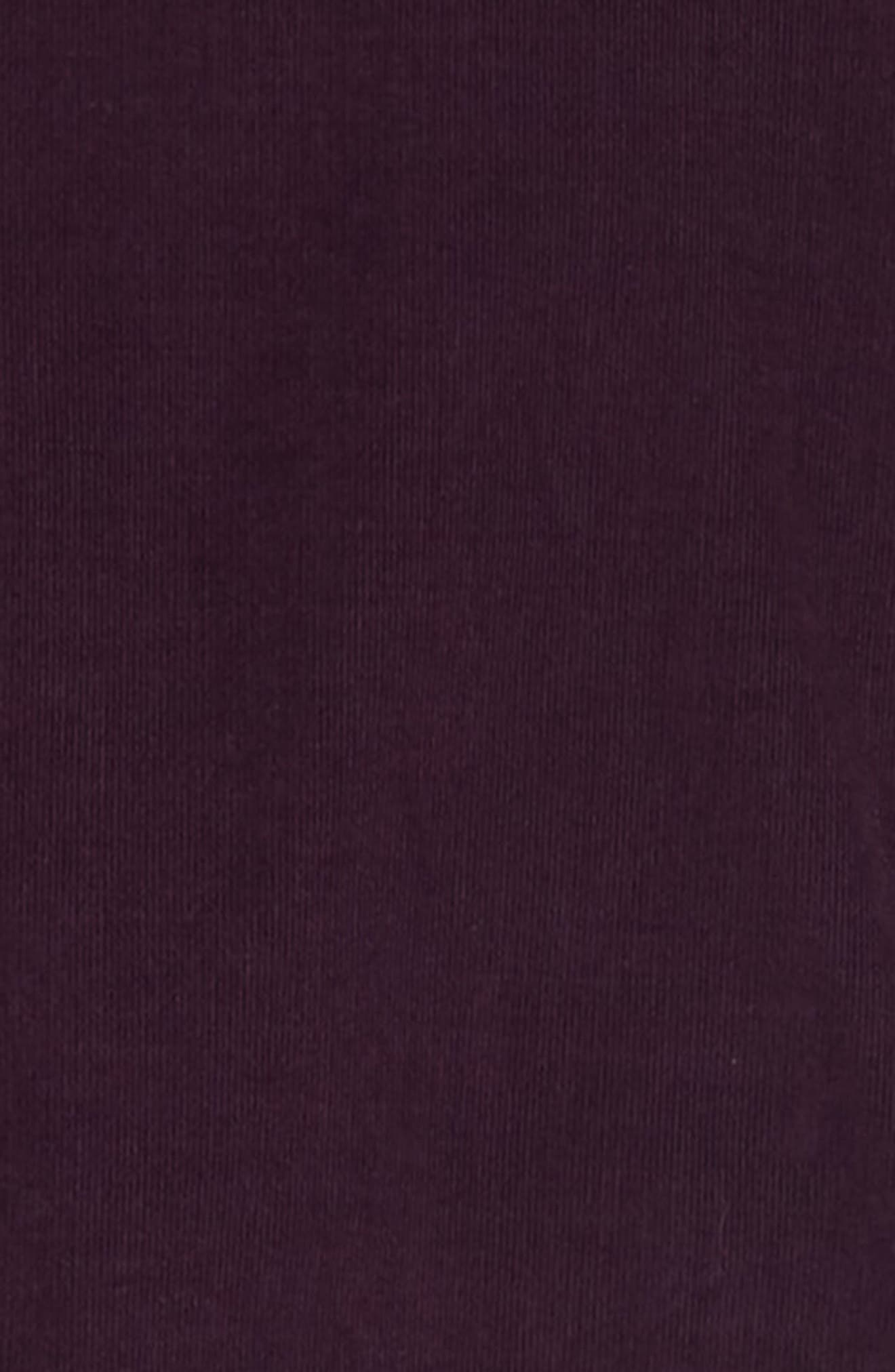 Corduroy Shirt,                             Alternate thumbnail 6, color,                             PURPLE