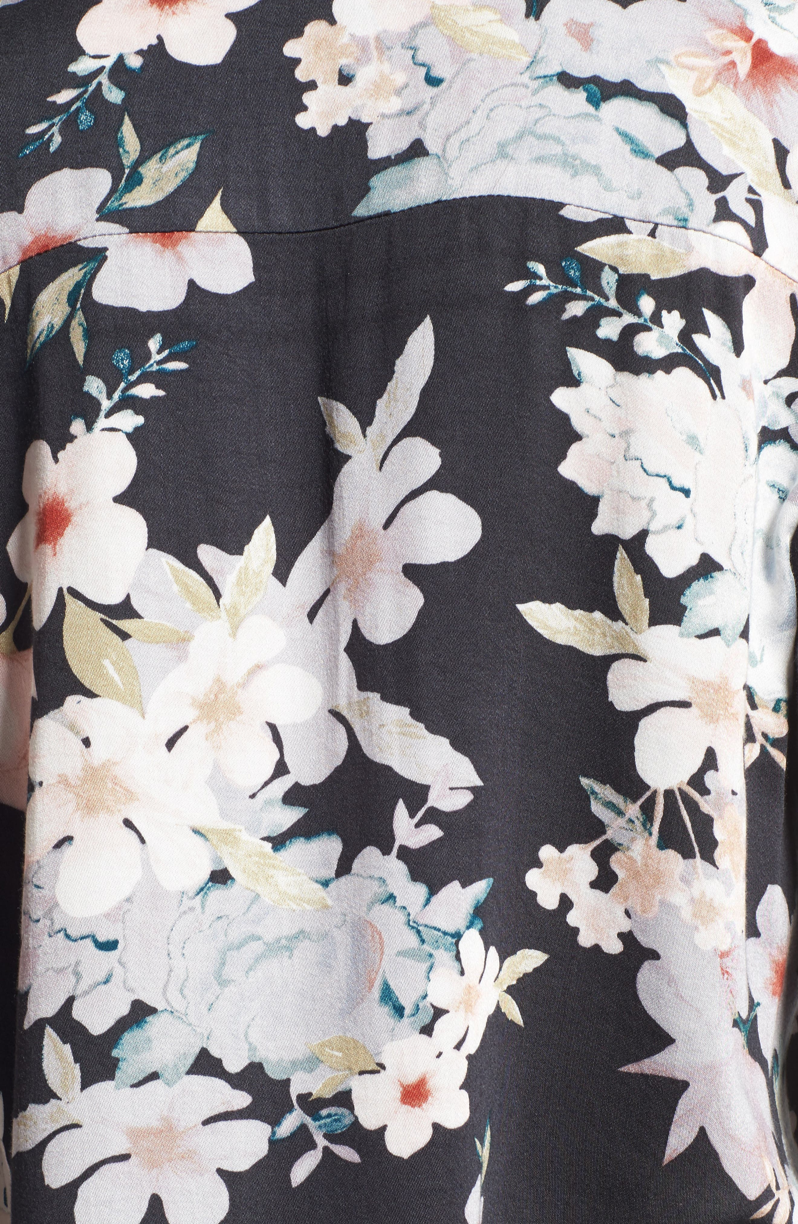 Mystic Nights Floral Blouse,                             Alternate thumbnail 5, color,                             400