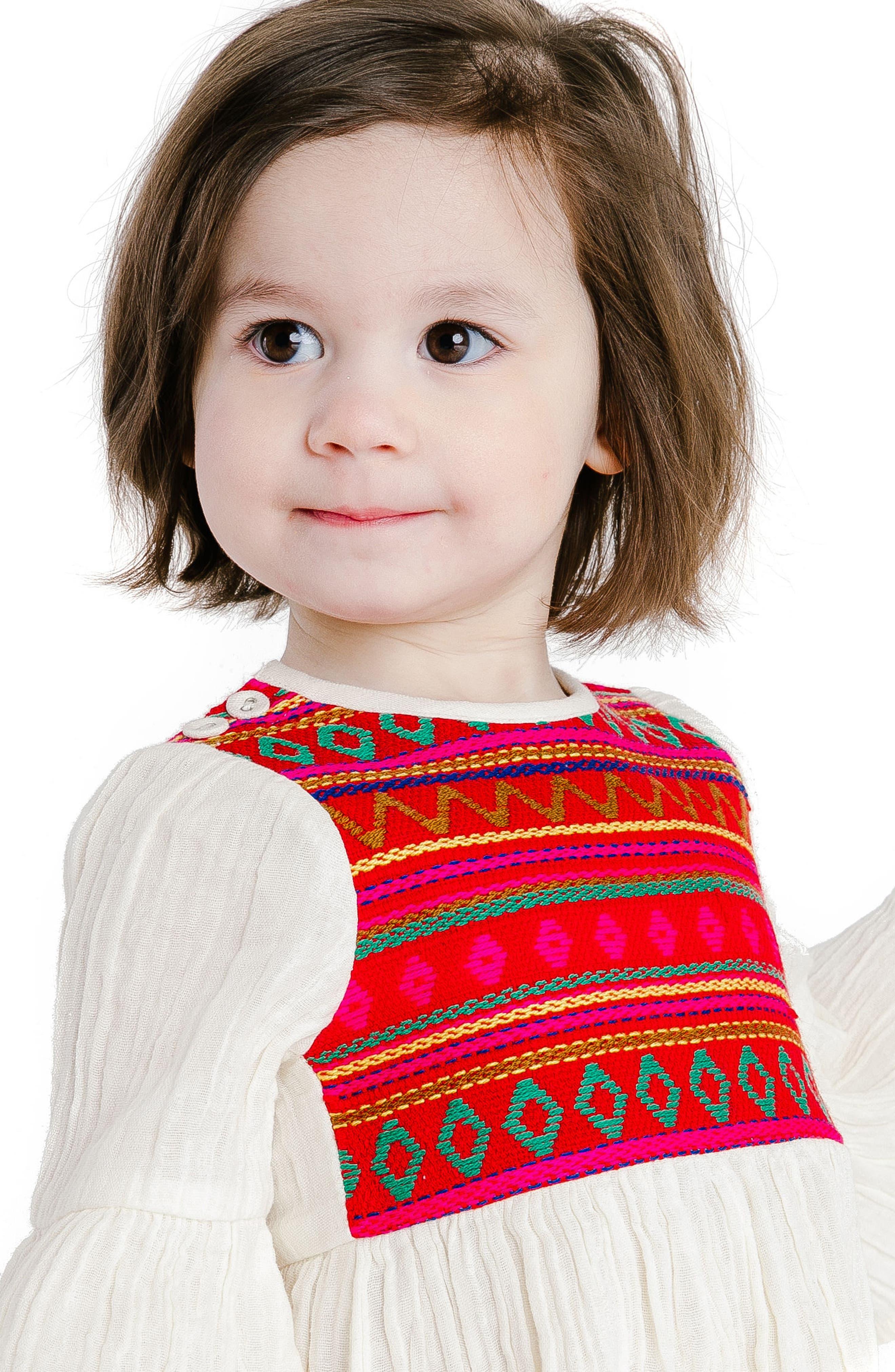 Simple Jacquard Dress,                             Alternate thumbnail 3, color,                             600