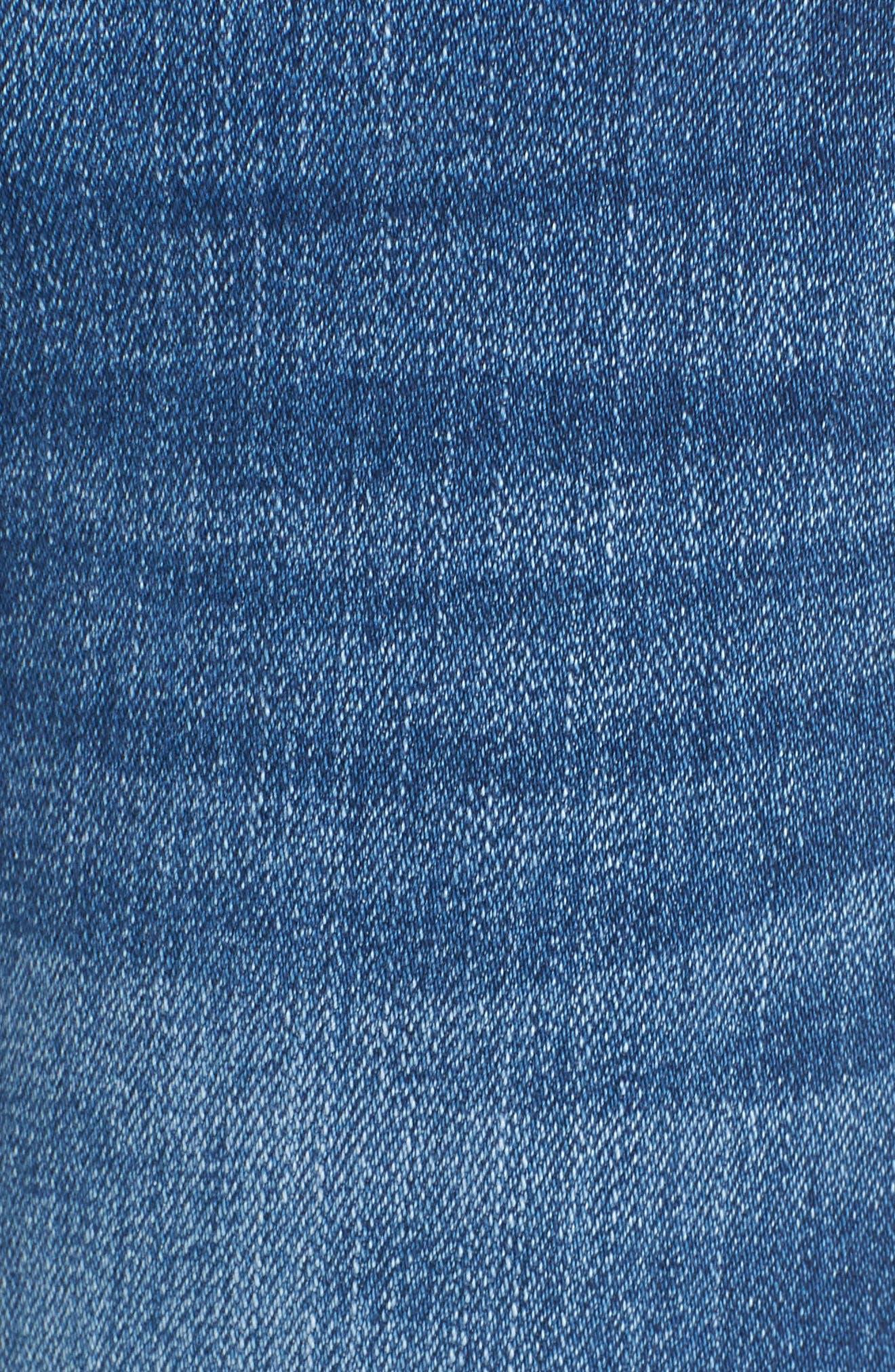Low Key Judging Fray Hem Skinny Jeans,                             Alternate thumbnail 6, color,                             400