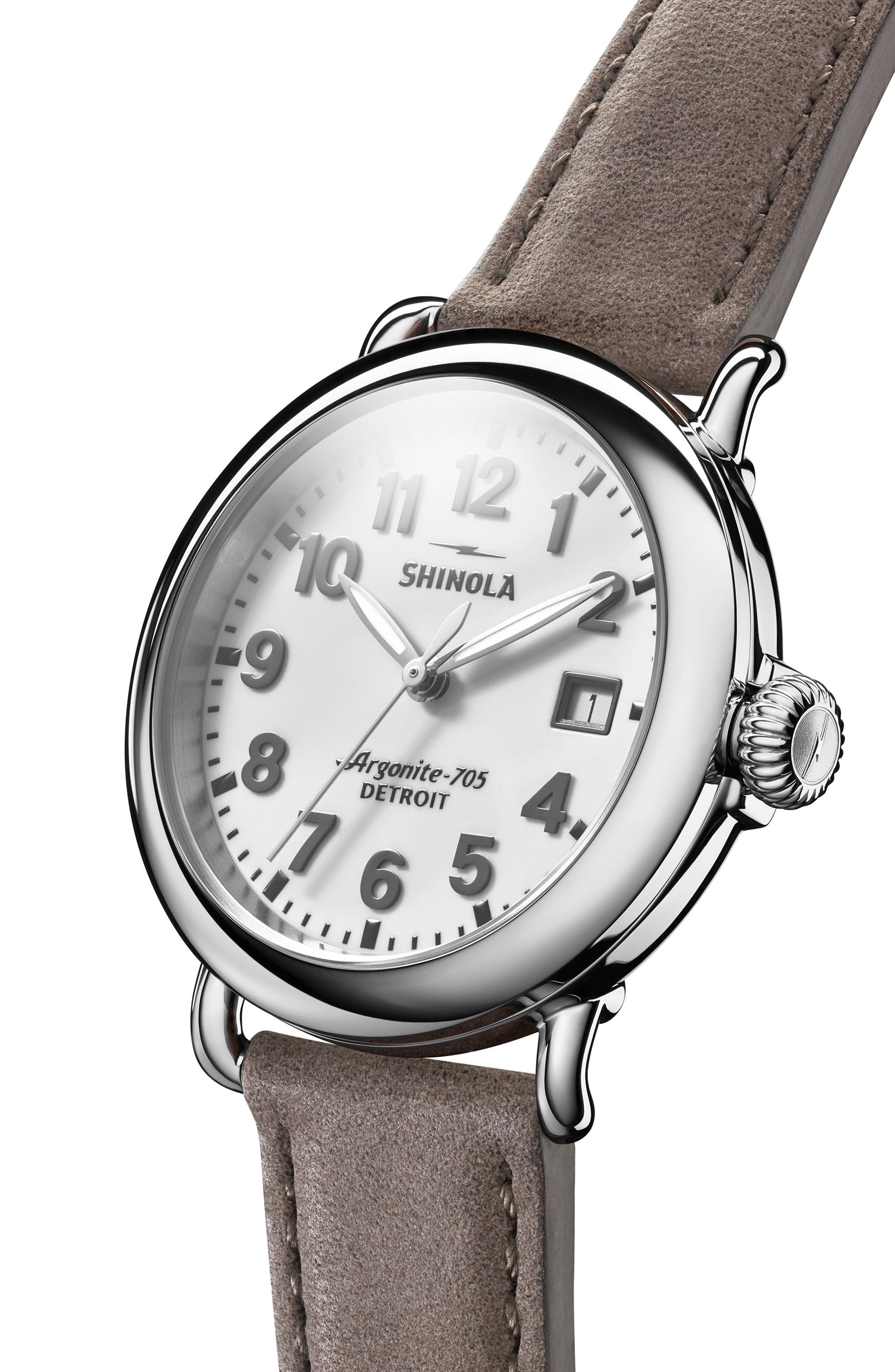 The Runwell Leather Strap Watch, 36mm,                             Alternate thumbnail 4, color,                             020