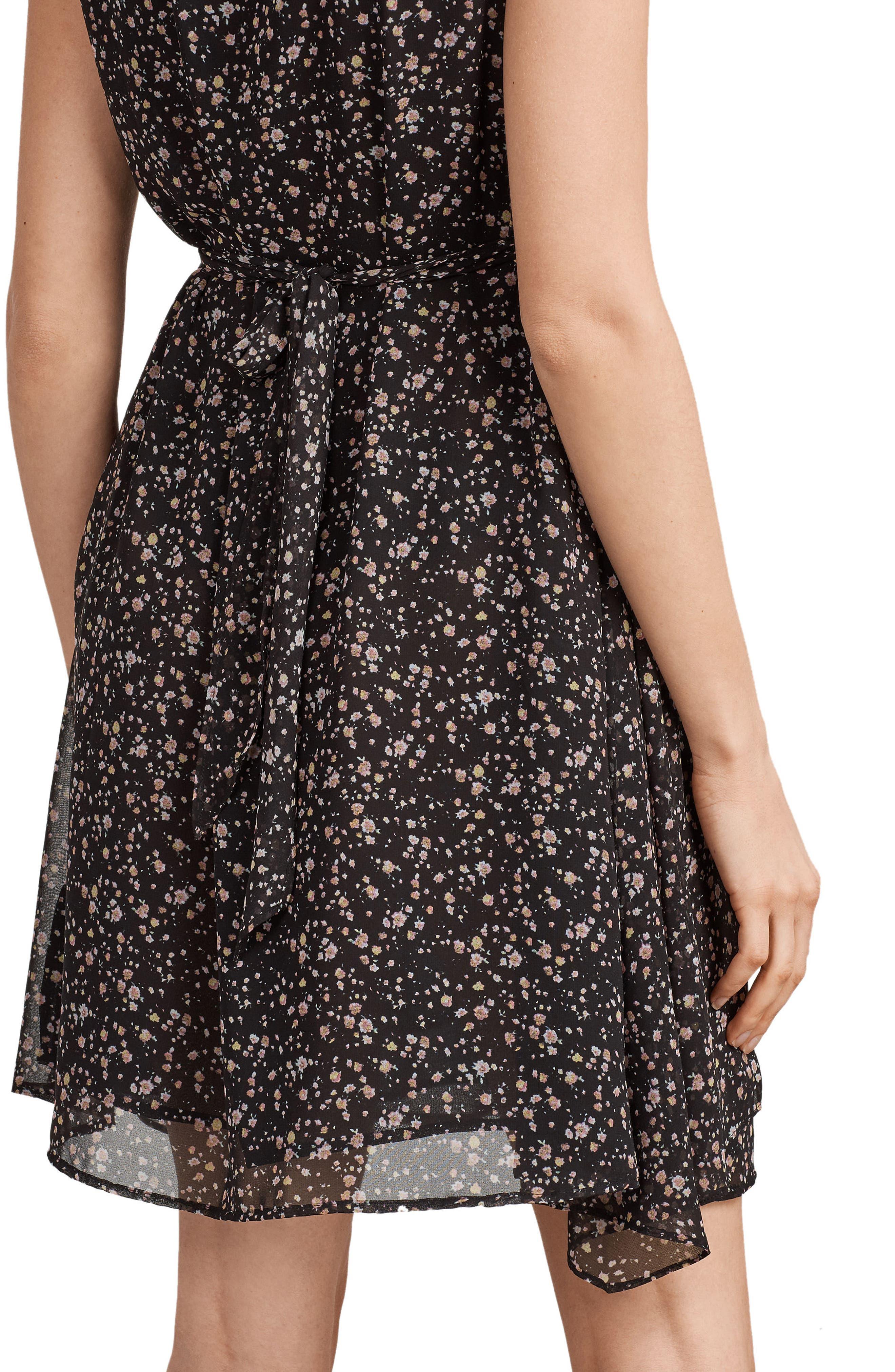 Jayda Pepper Floral Print Dress,                             Alternate thumbnail 6, color,                             001