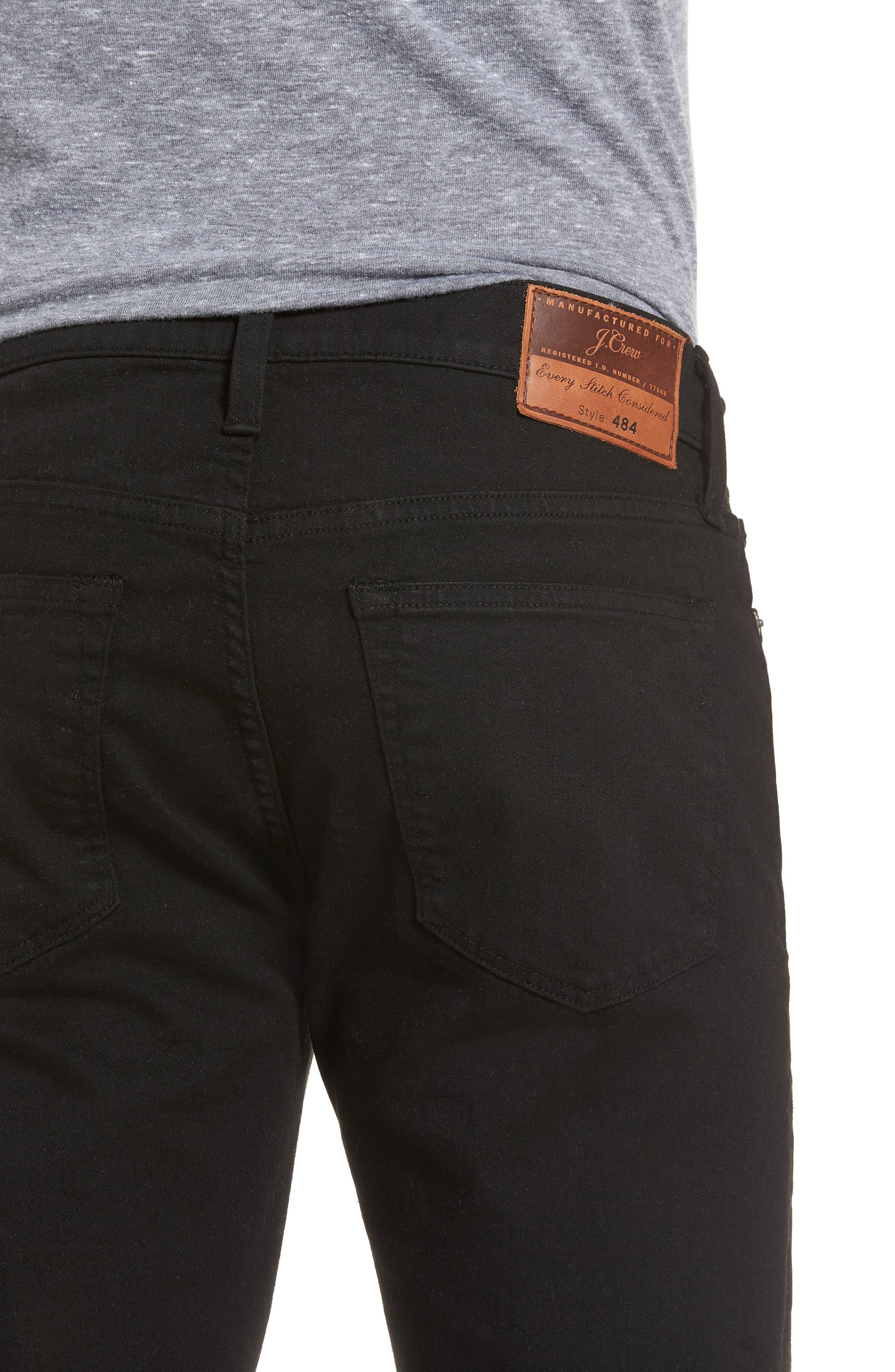 484 Slim Fit Stretch Jeans,                             Alternate thumbnail 4, color,                             009