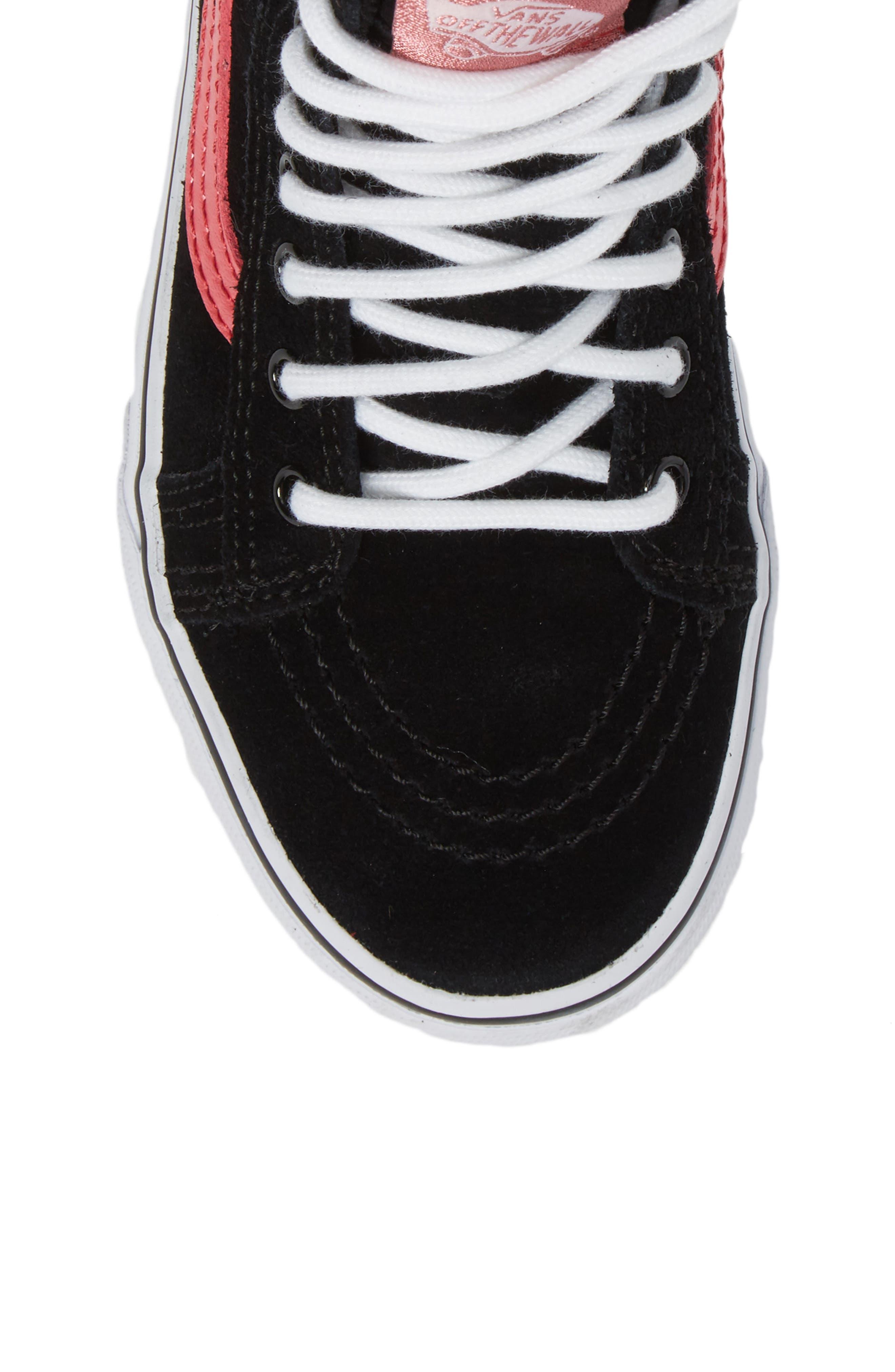 SK8-Hi Sneaker,                             Alternate thumbnail 5, color,                             001