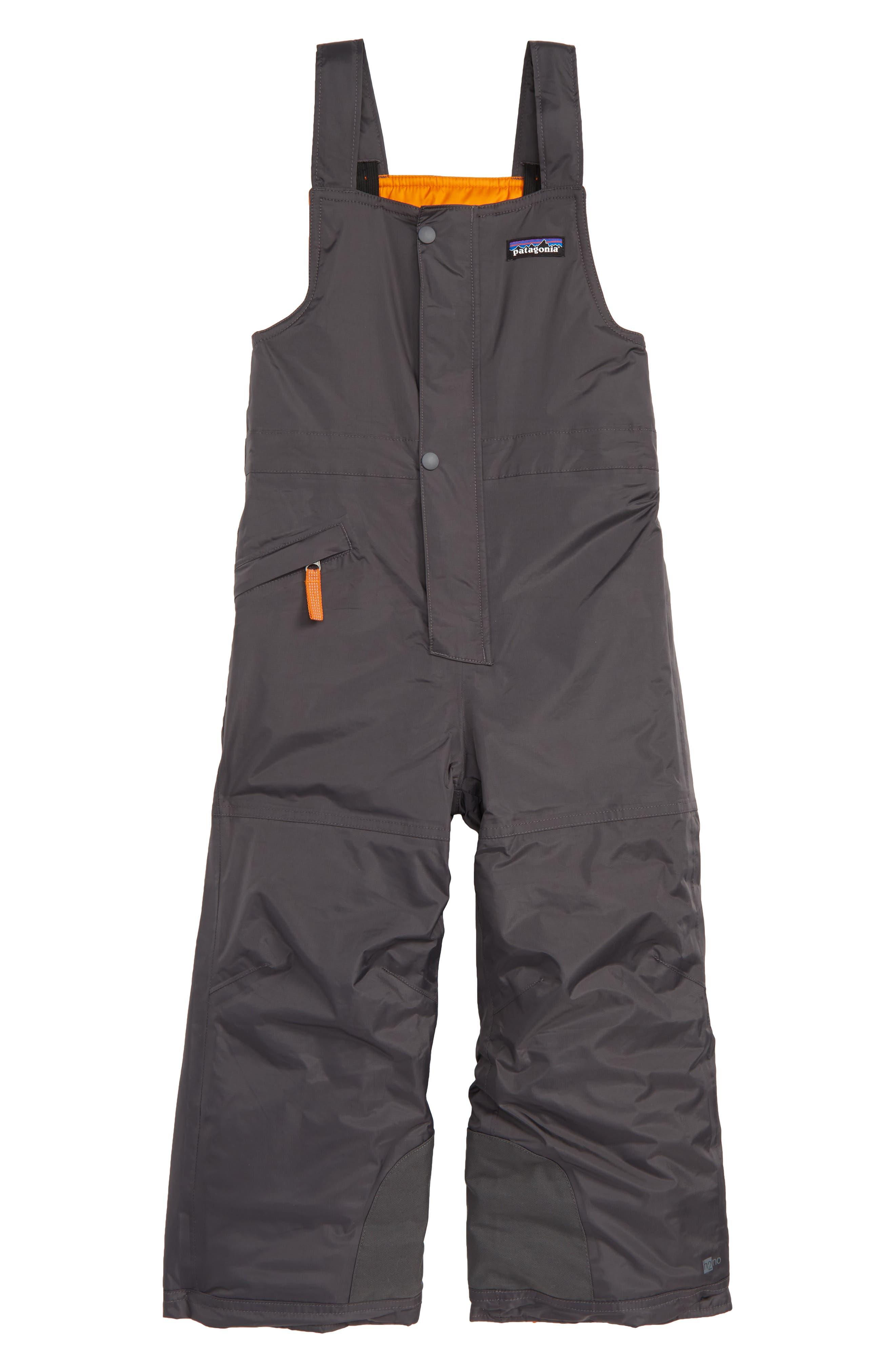 Toddler Boys Patagonia Snow Pile Bib Snow Pants Size 5T  Grey