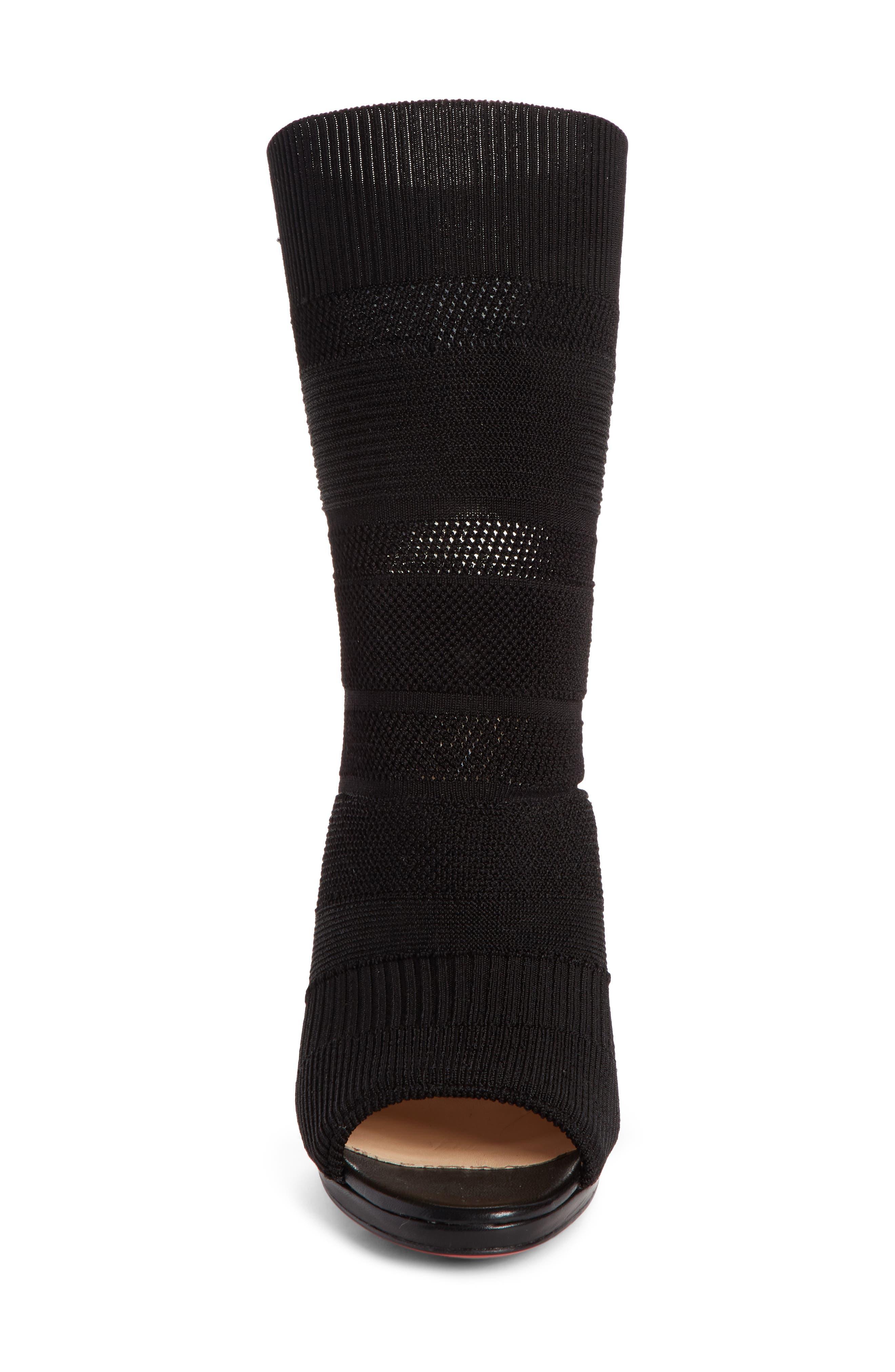 Cheminene Sock Sandal,                             Alternate thumbnail 4, color,                             001