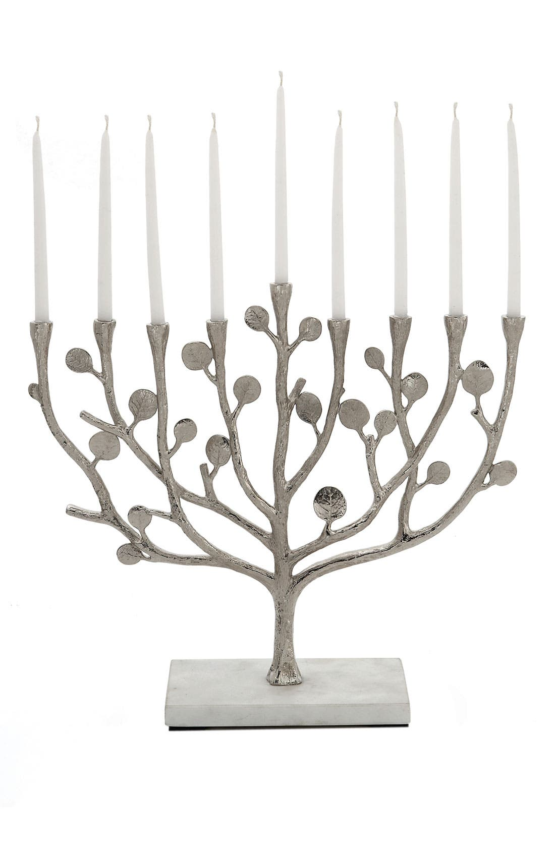 MICHAEL ARAM 'Botanical Leaf' Menorah, Main, color, 000