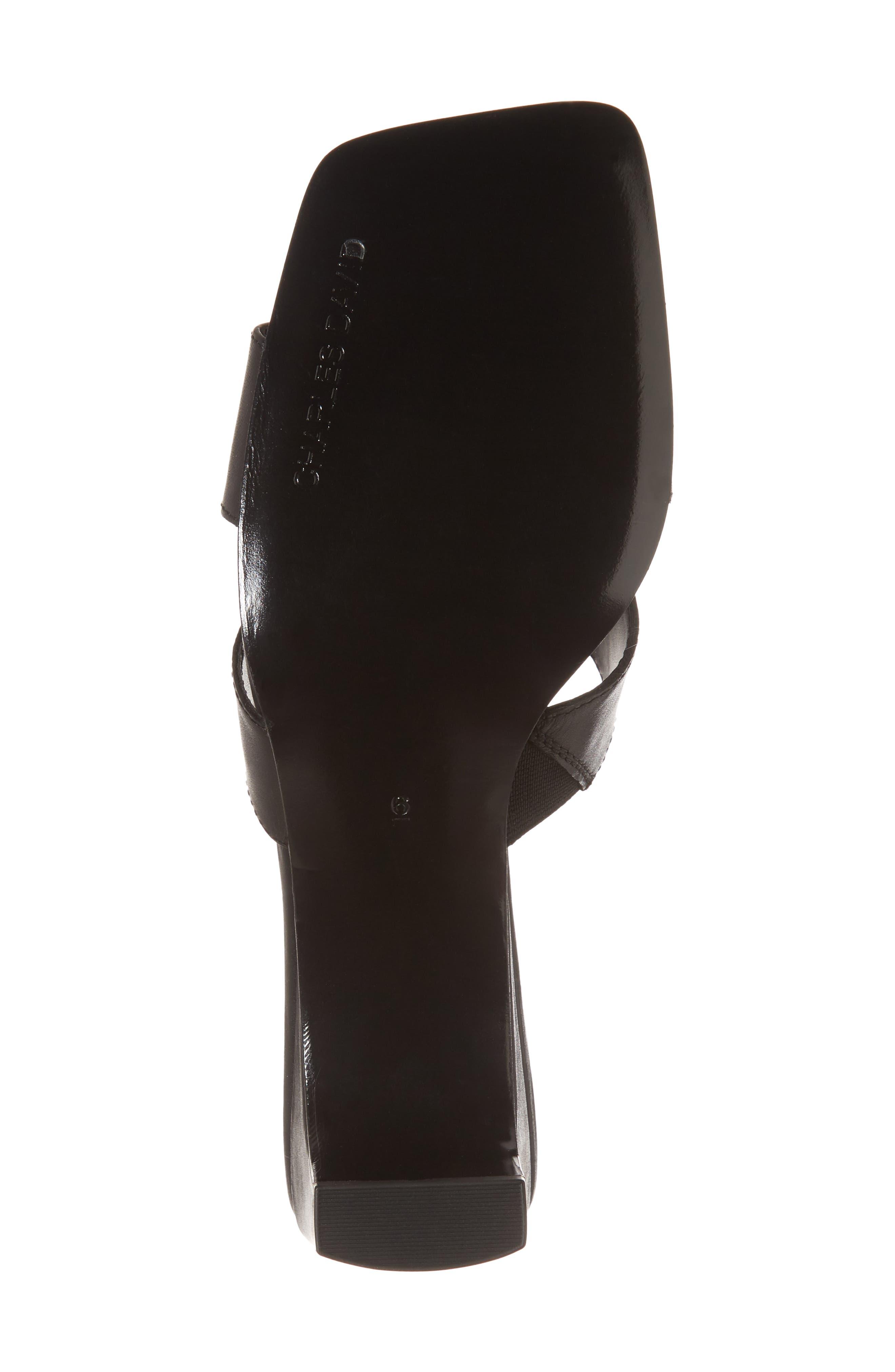 Harley Slide Sandal,                             Alternate thumbnail 6, color,                             BLACK LEATHER