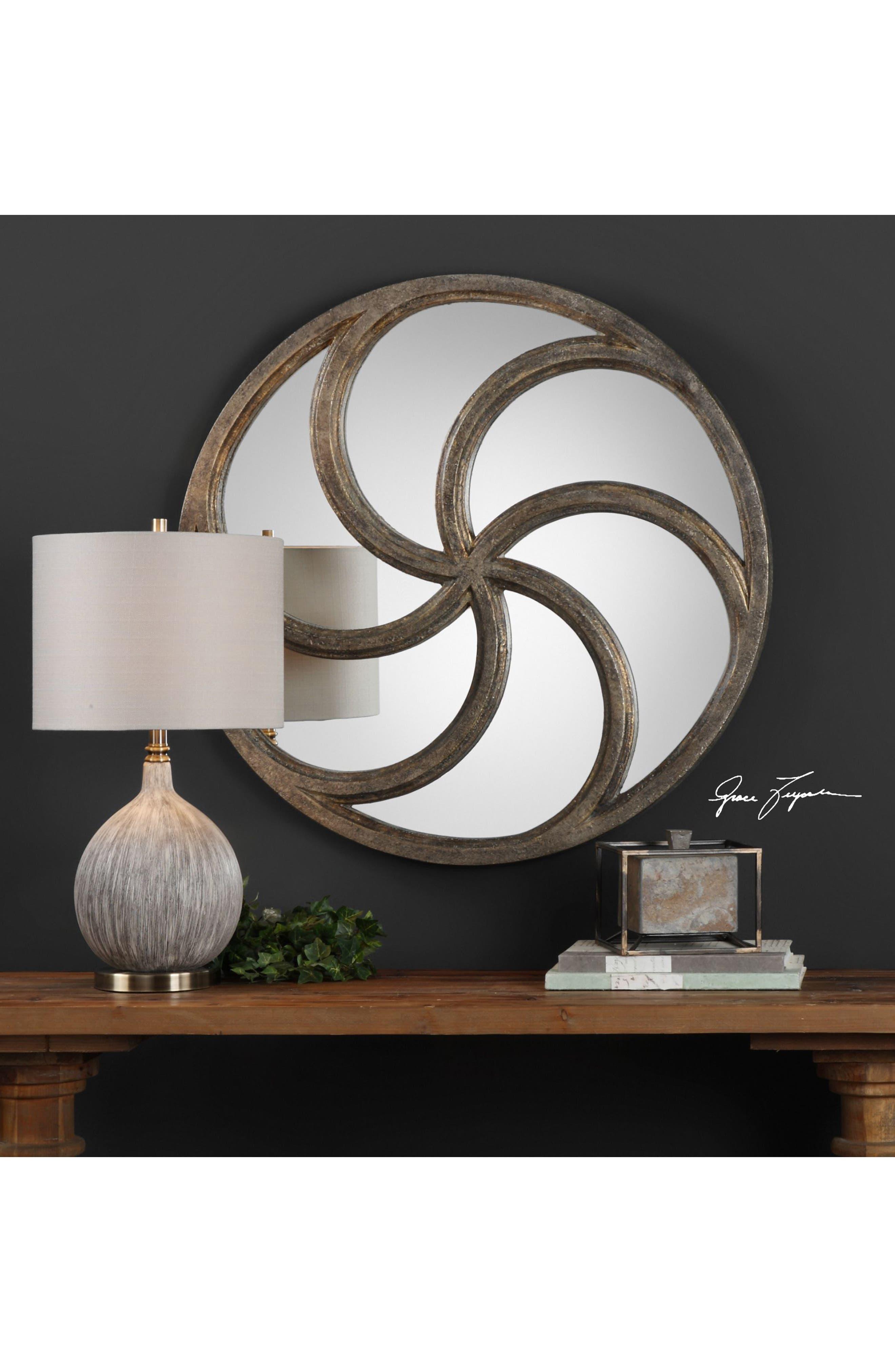 Spiralis Wall Mirror,                             Alternate thumbnail 2, color,                             020