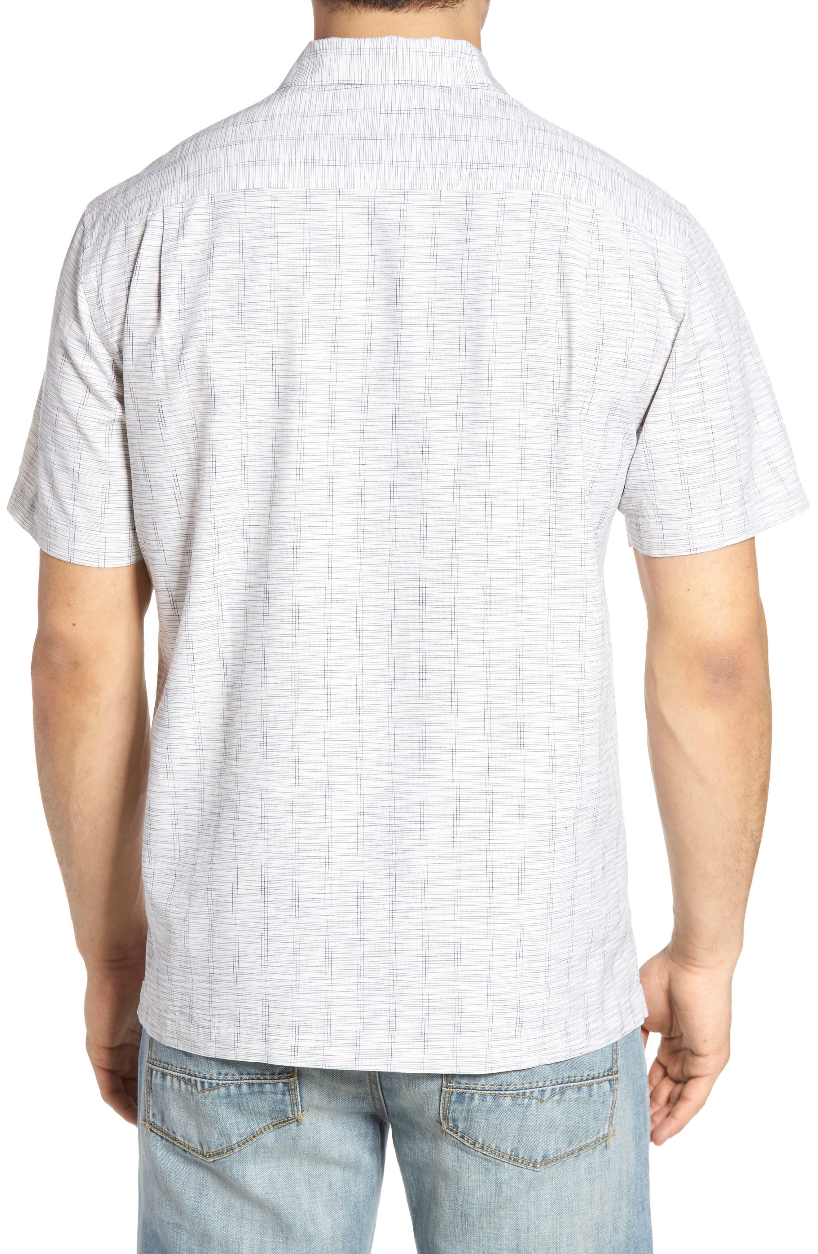 Seismic Stripe Silk Sport Shirt,                             Alternate thumbnail 3, color,