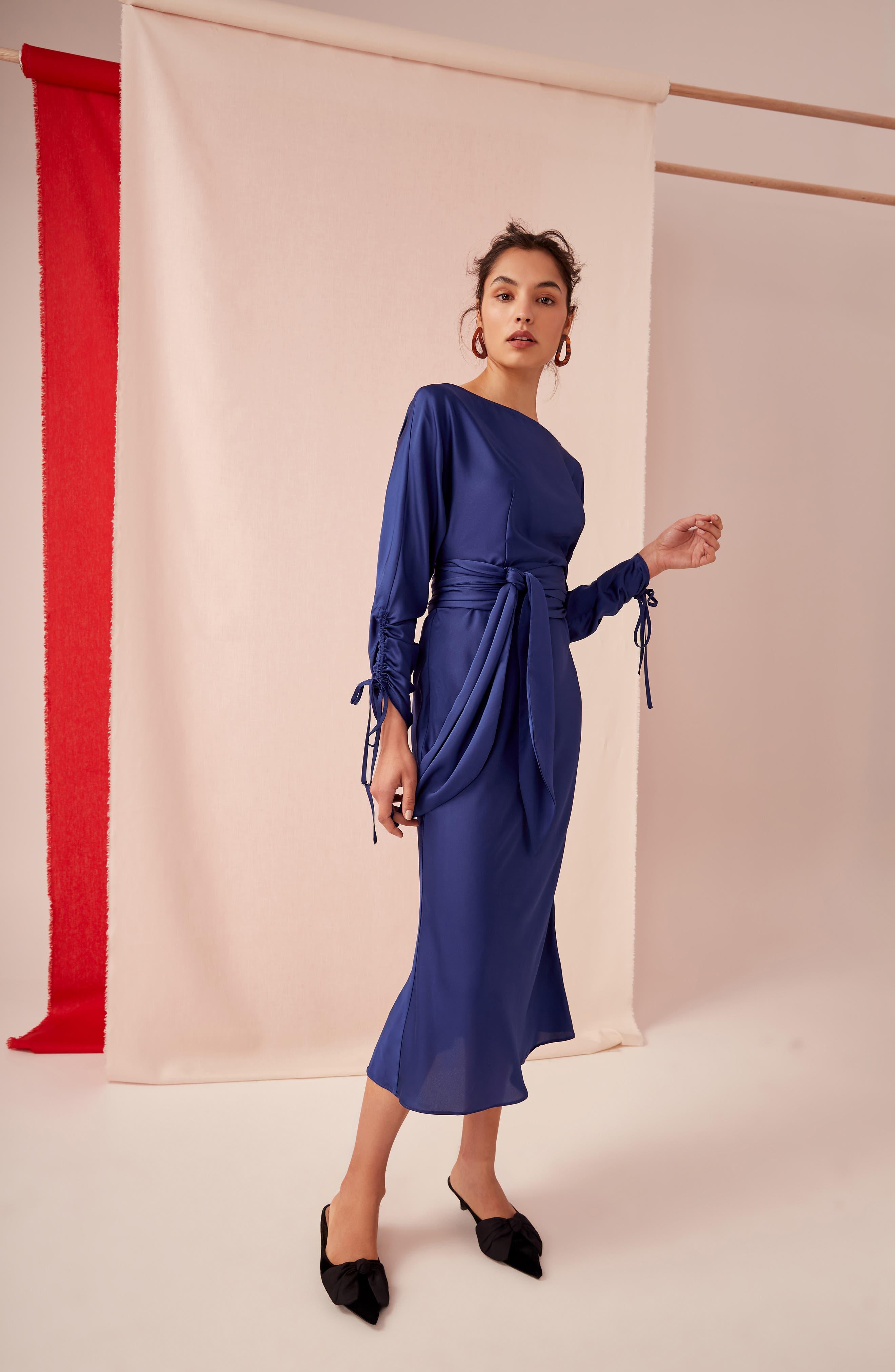 KEEPSAKE THE LABEL,                             Uncovered Midi Dress,                             Alternate thumbnail 8, color,                             430