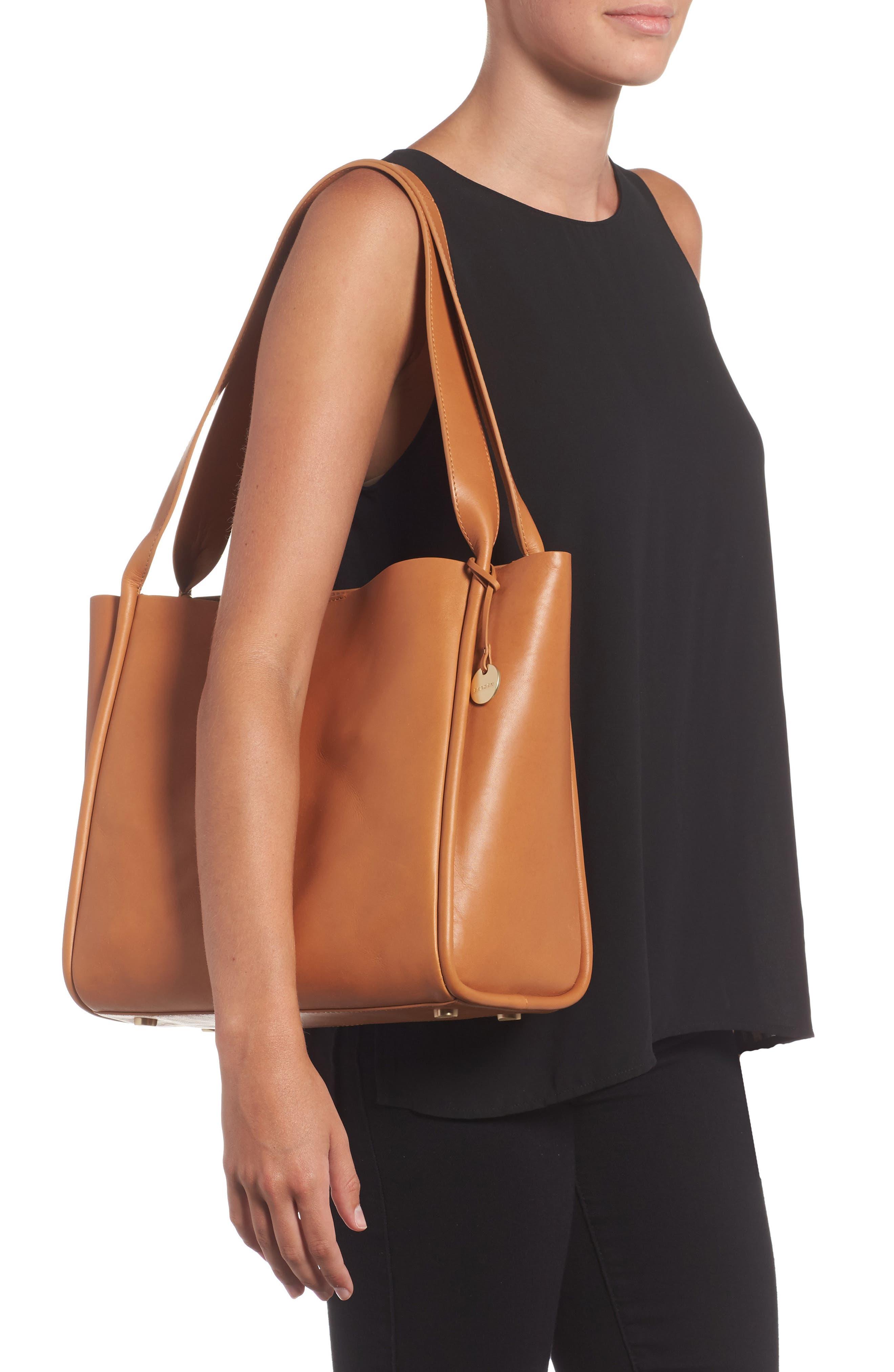 Karalie Leather Shoulder Bag,                             Alternate thumbnail 6, color,