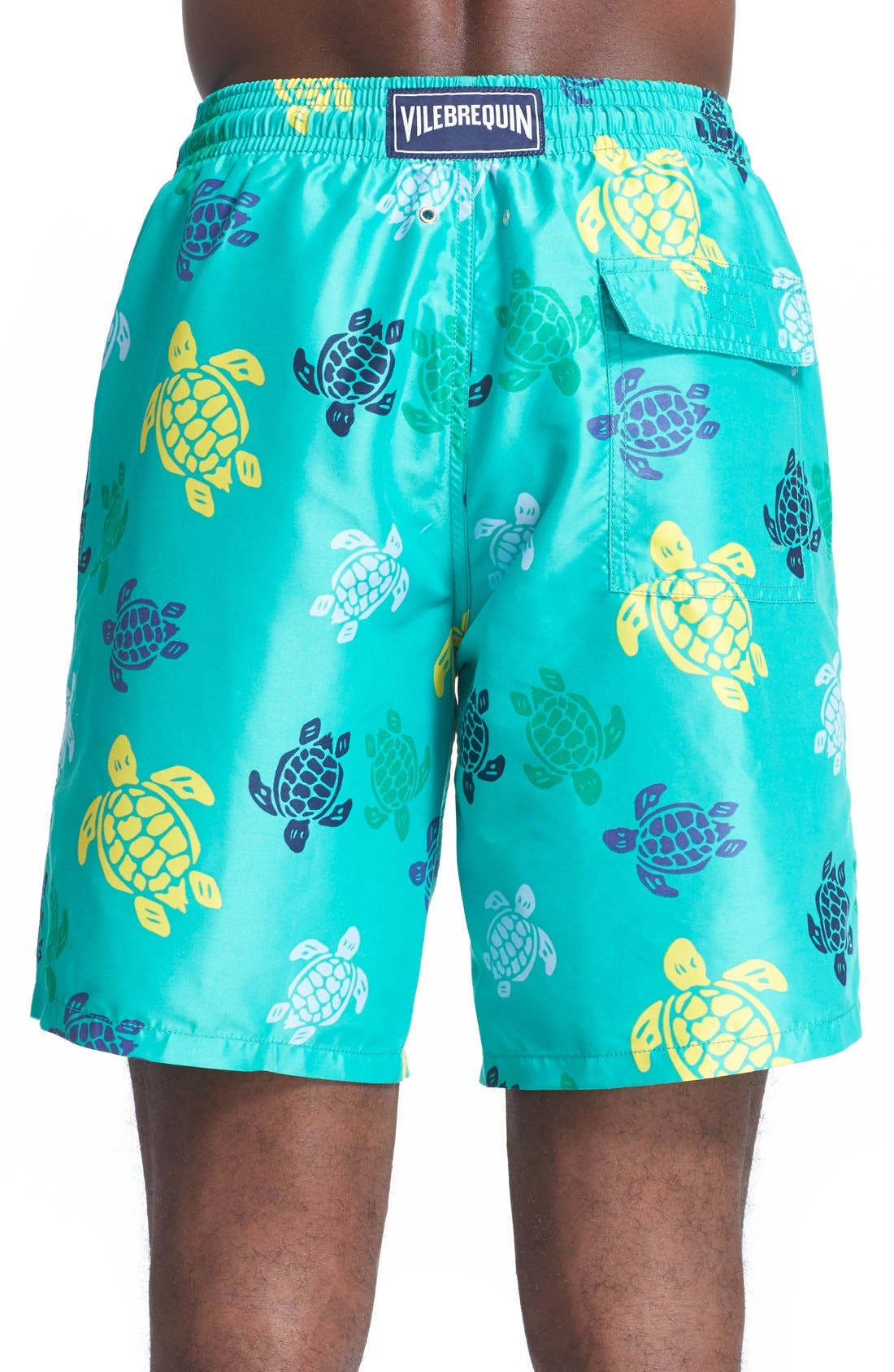 'Okoa' Turtle Print Swim Trunks,                             Alternate thumbnail 2, color,                             348