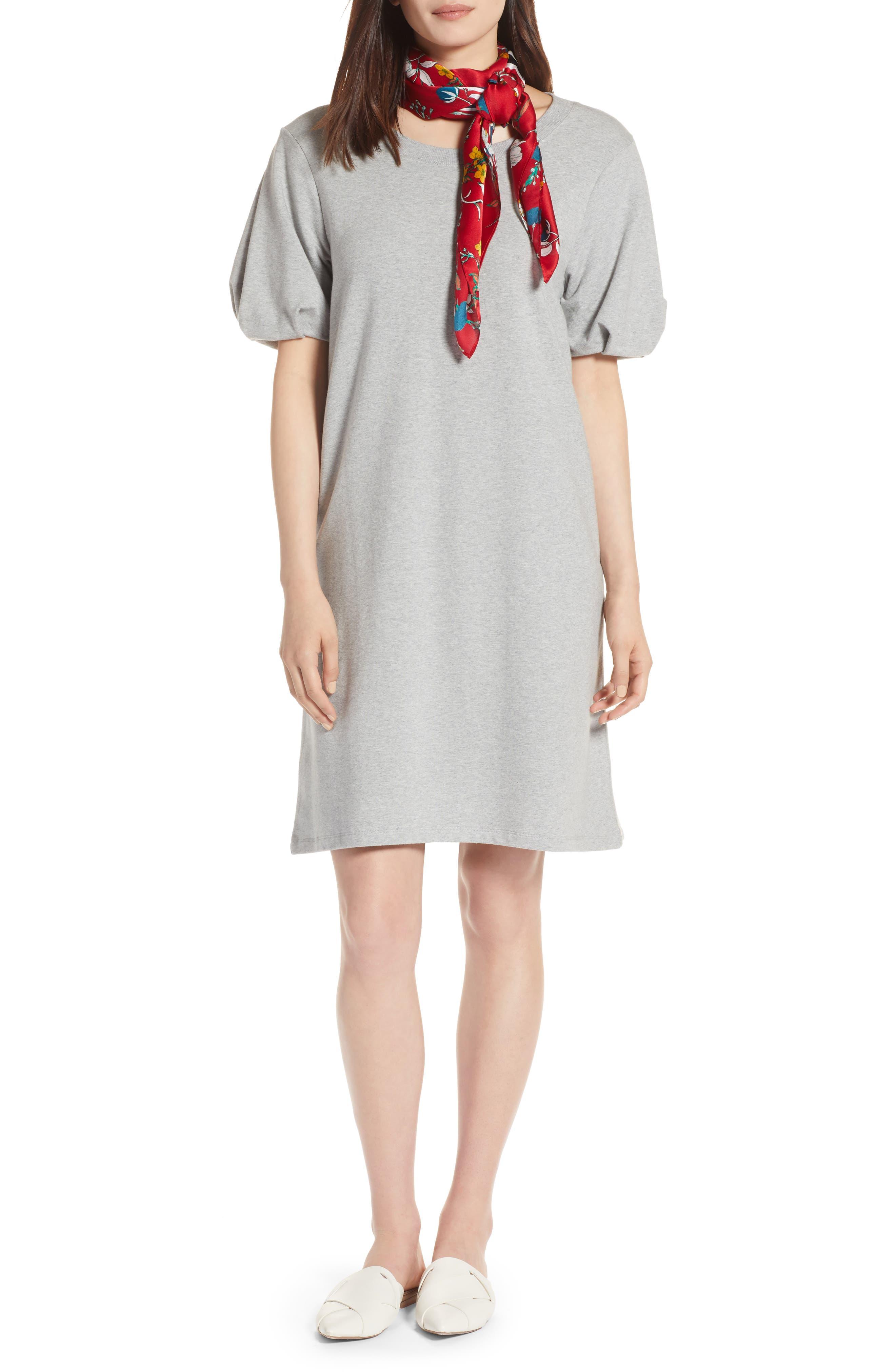 Bubble Sleeve Dress,                             Main thumbnail 3, color,