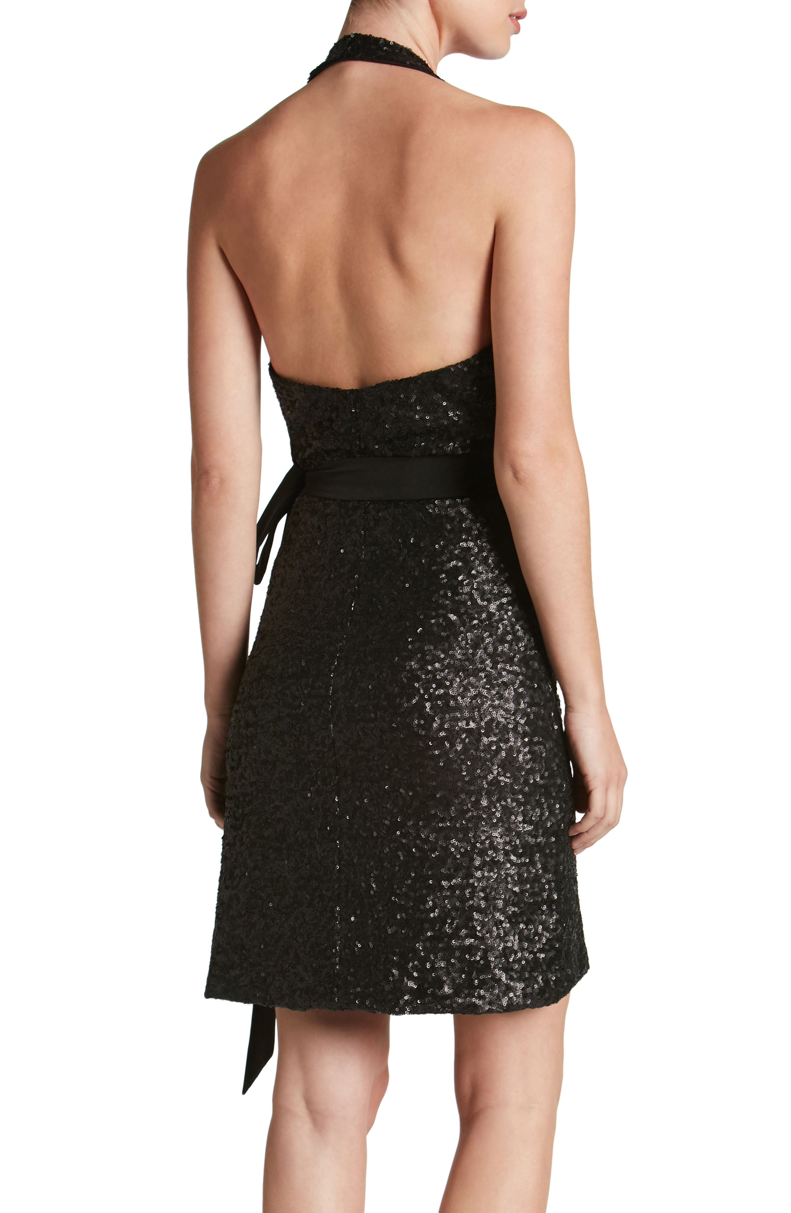Danielle Sequin Wrap Mini Dress,                             Alternate thumbnail 2, color,                             008