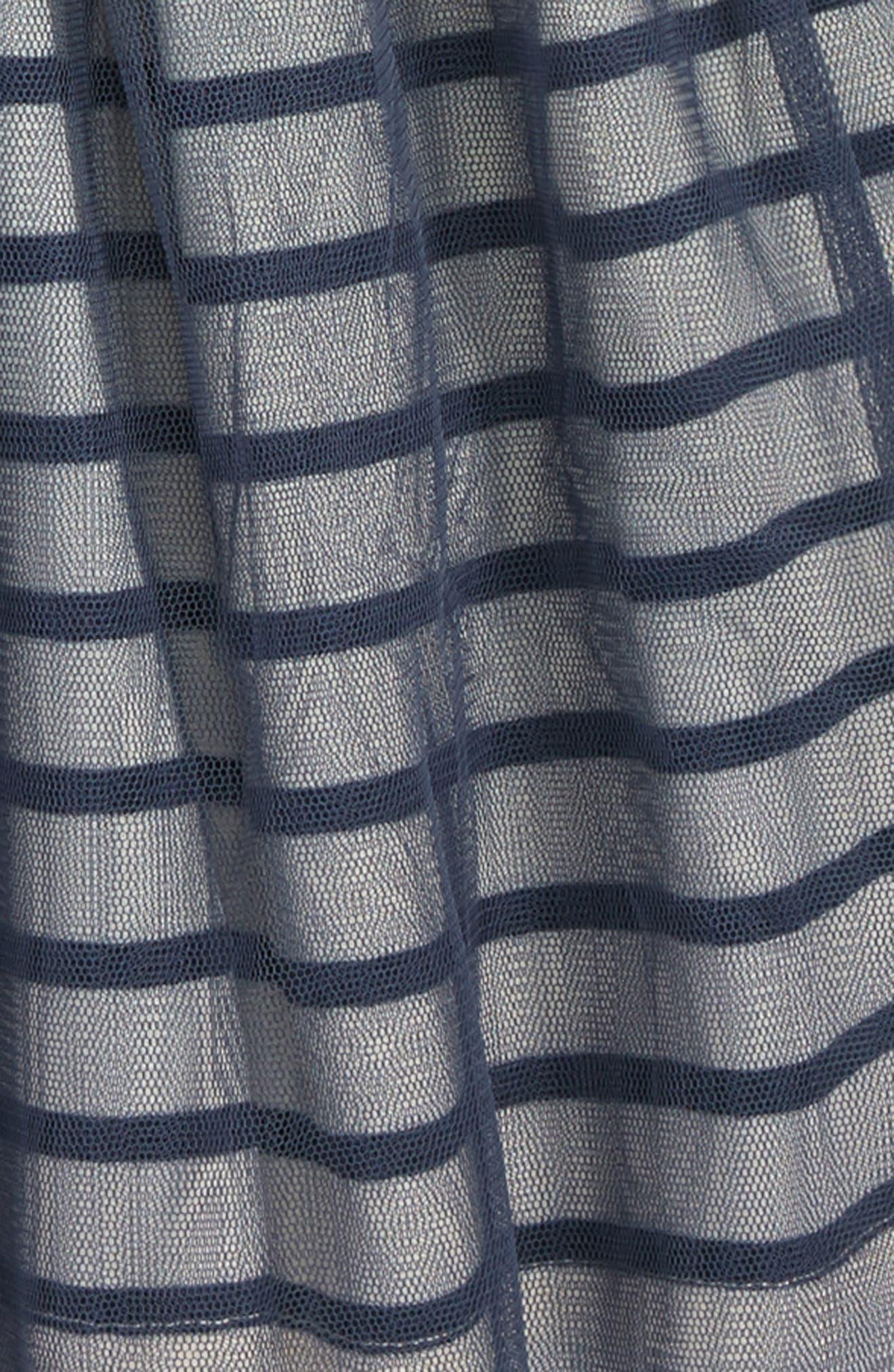Stripe Tulle Skirt,                             Alternate thumbnail 2, color,                             INDIGO