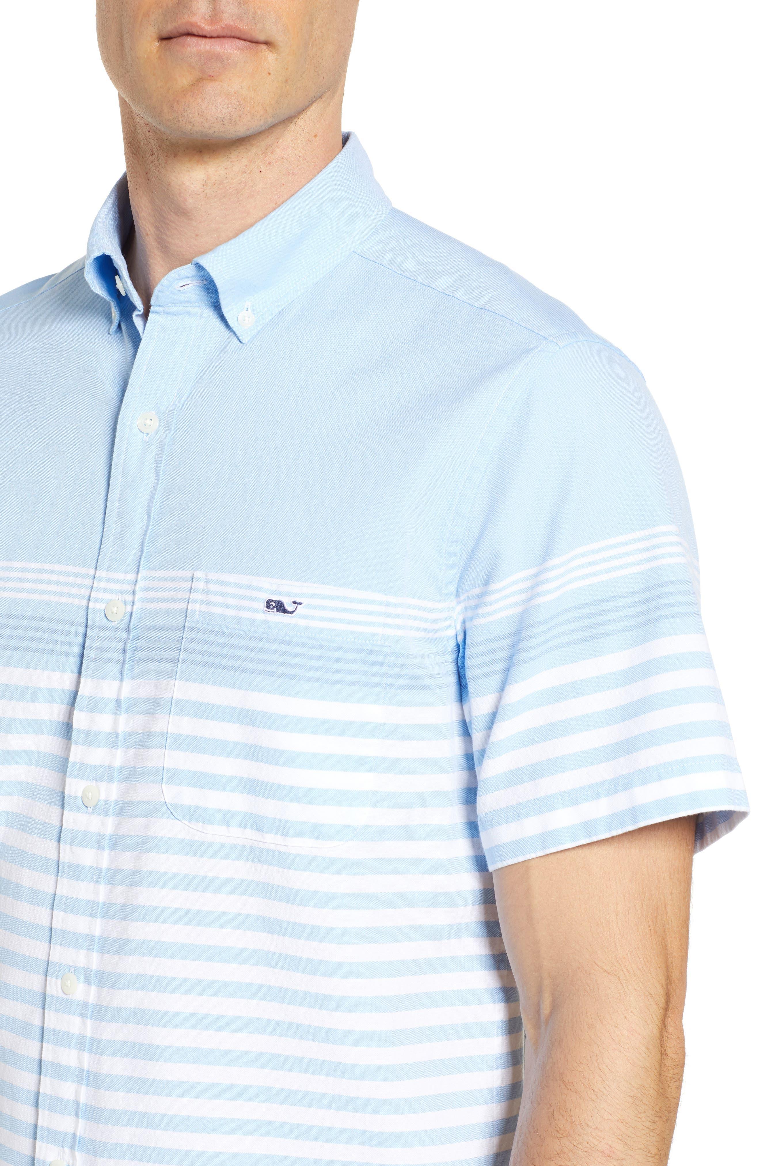 Sea Mist Stretch Short Sleeve Sport Shirt,                             Alternate thumbnail 4, color,                             484